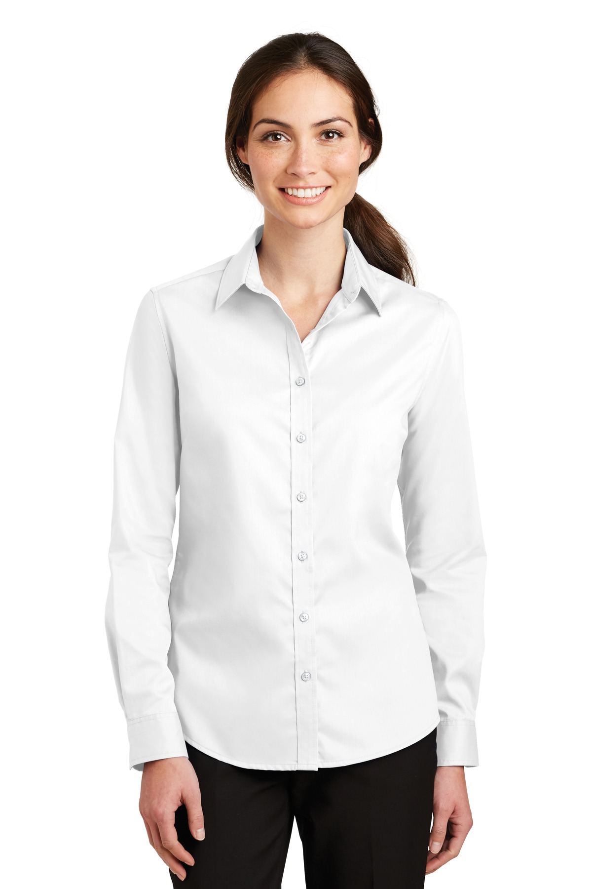 Port Authority ®  Ladies SuperPro ™  Twill Shirt. L663 - White