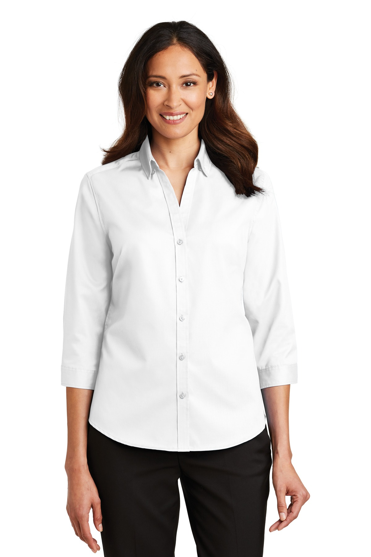 Port Authority ®  Ladies 3/4-Sleeve SuperPro ™  Twill Shirt. L665 - White