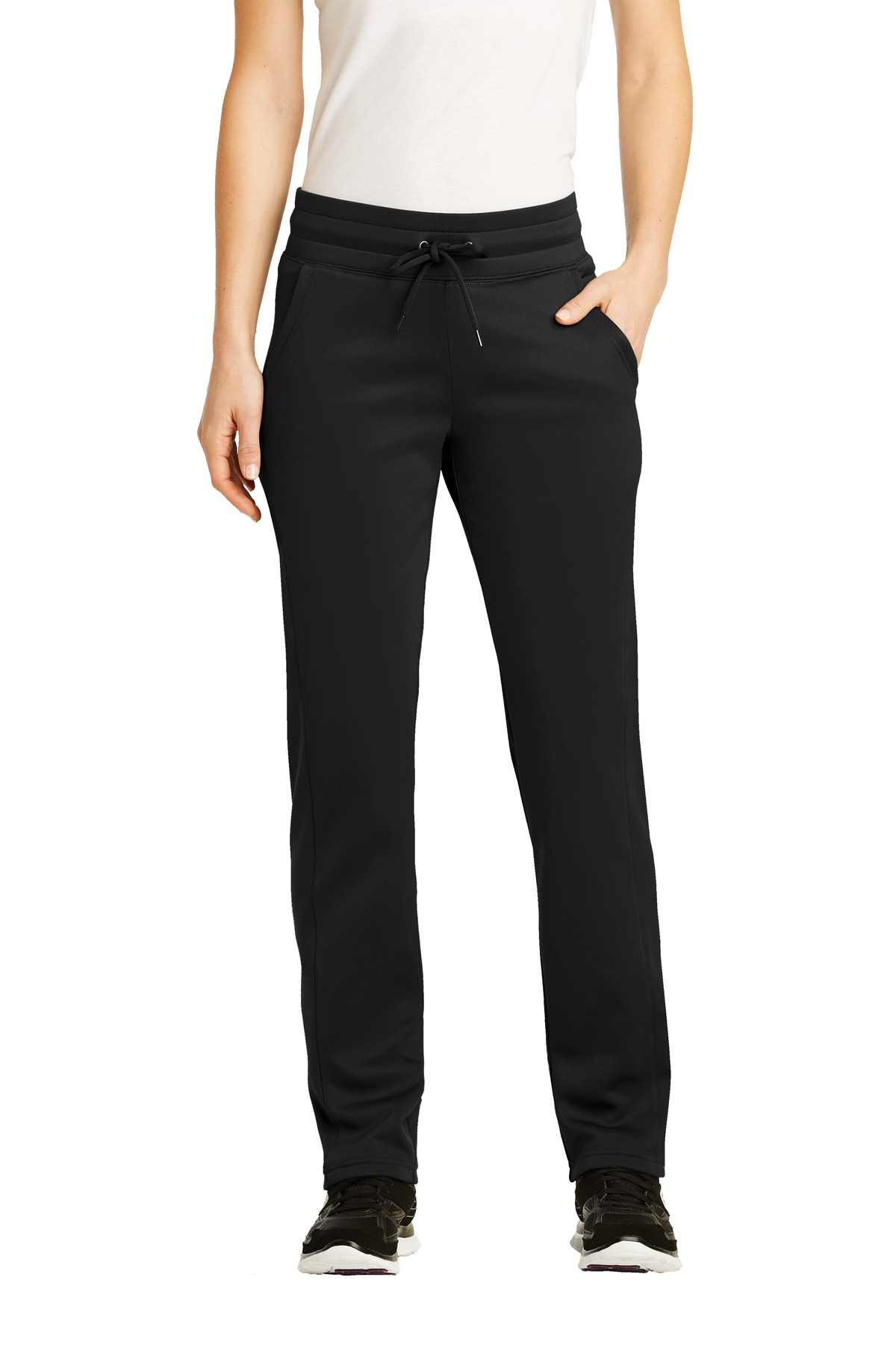 Sport-Tek ®  Ladies Sport-Wick ®  Fleece Pant. LST237 - Black
