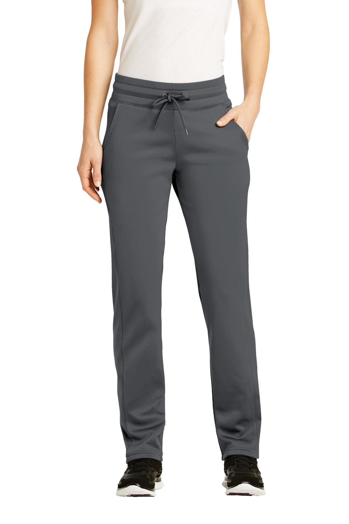 Sport-Tek ®  Ladies Sport-Wick ®  Fleece Pant. LST237 - Dark Smoke Grey