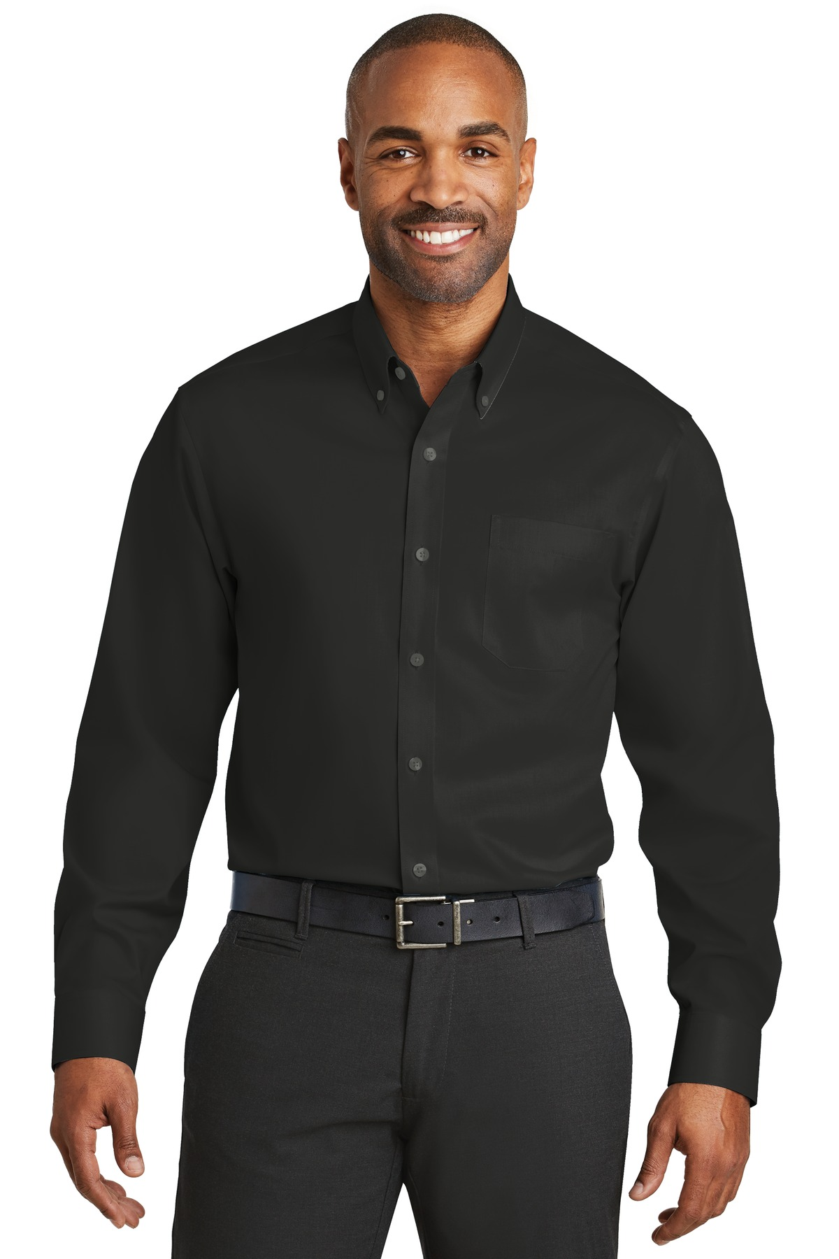 Red House ®  Non-Iron Twill Shirt. RH78 - Black