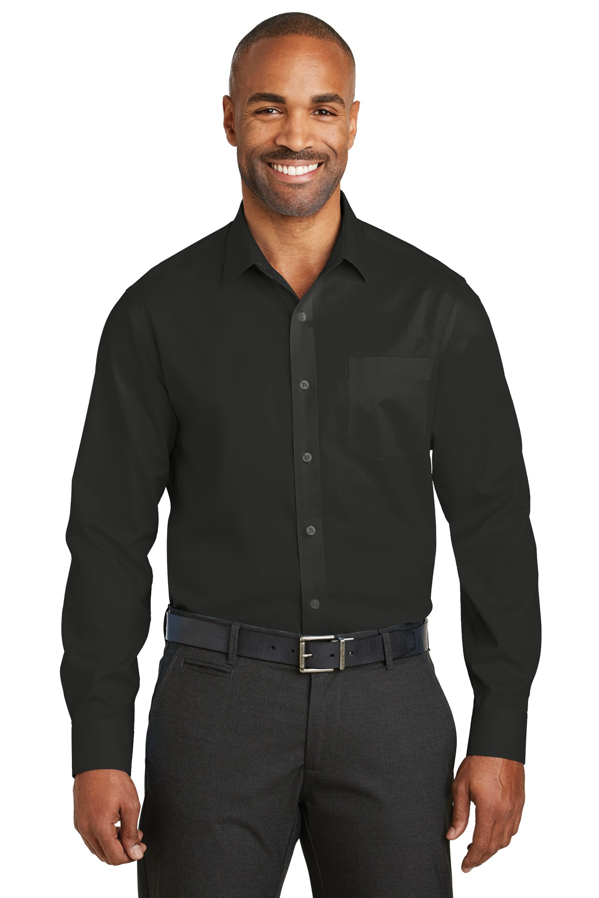 Red House ®  Slim Fit Non-Iron Twill Shirt. RH80 - Black