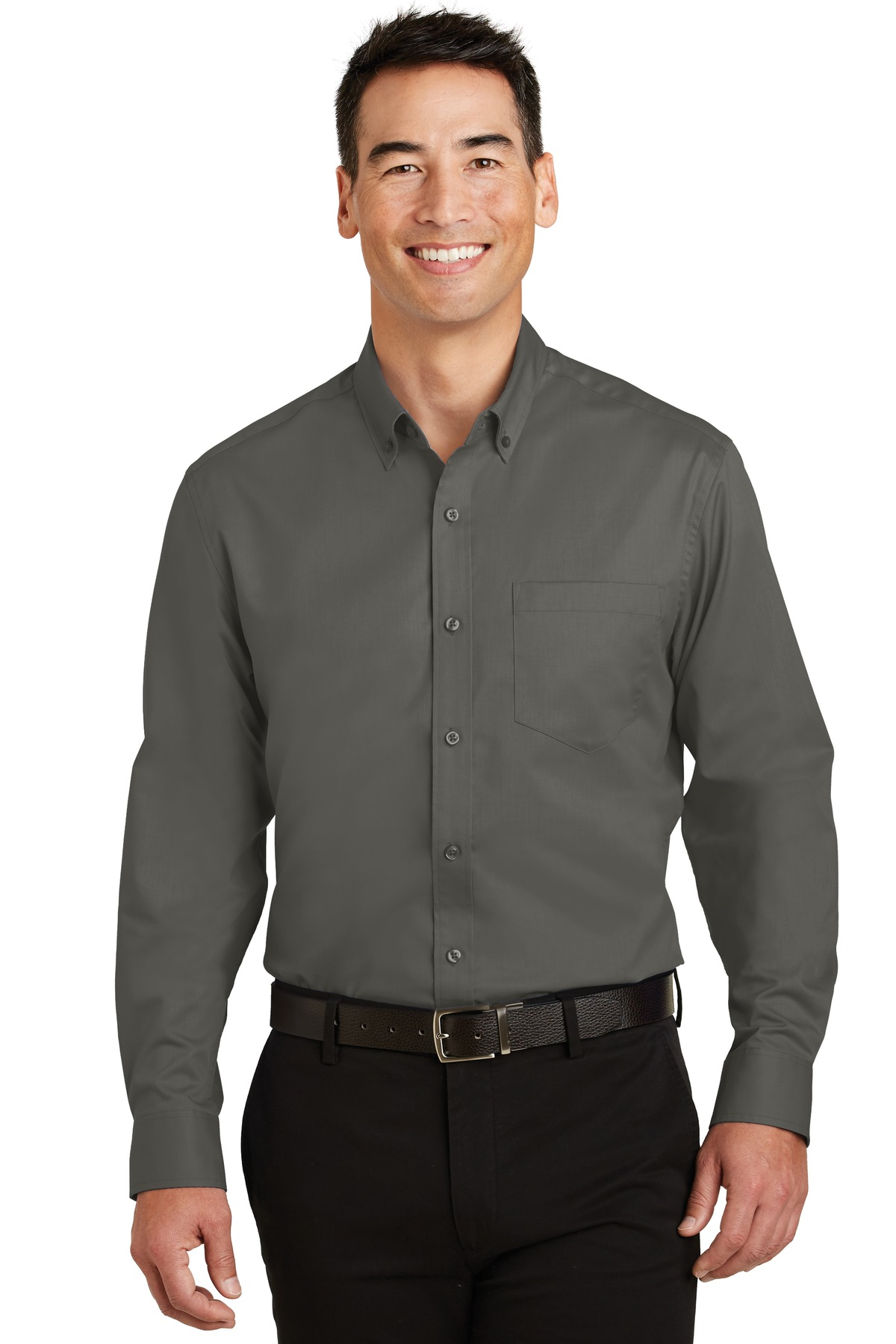 Port Authority ®  SuperPro ™  Twill Shirt. S663 - Sterling Grey
