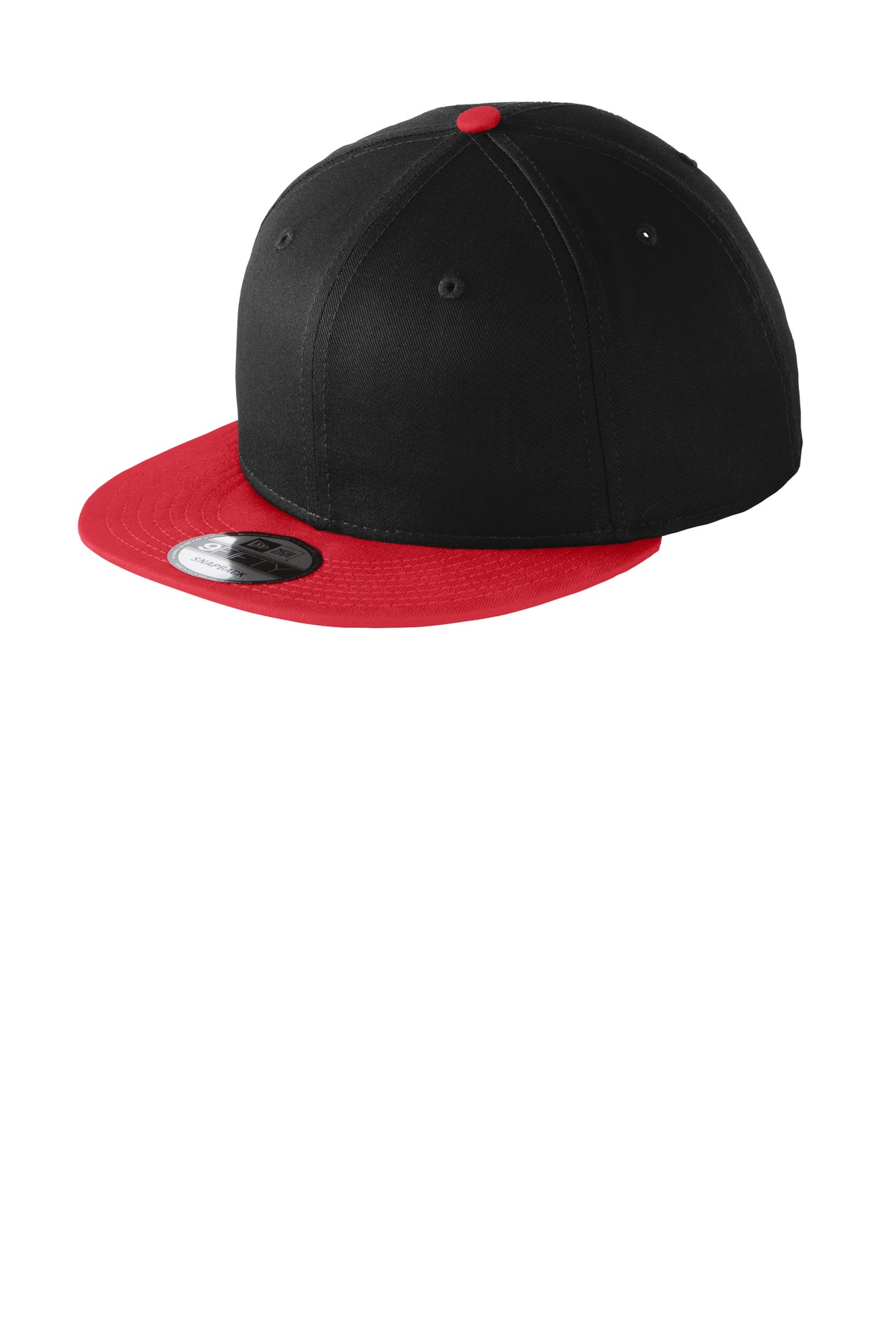 New Era ®  - Flat Bill Snapback Cap. NE400 - Black/ Scarlet
