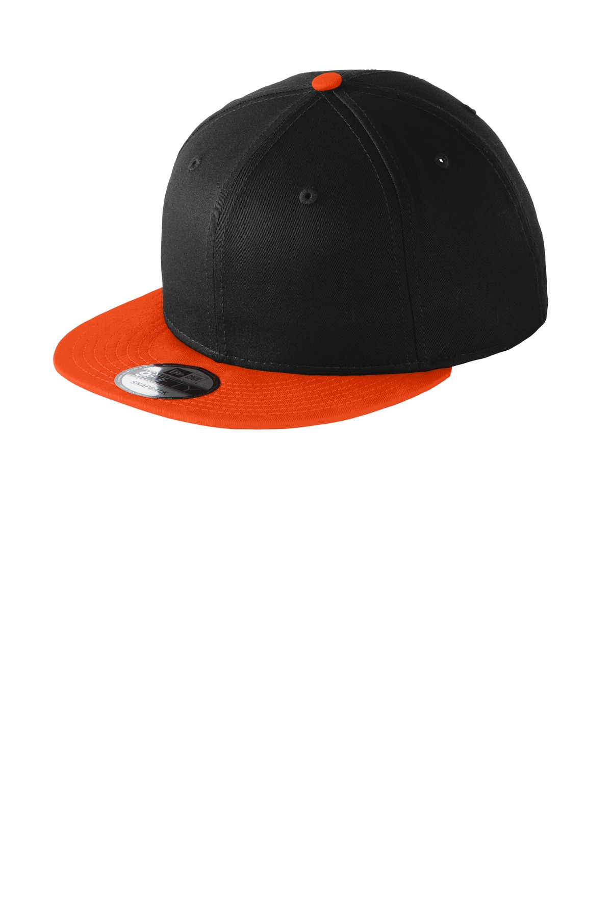 New Era ®  - Flat Bill Snapback Cap. NE400 - Black/ Team Orange