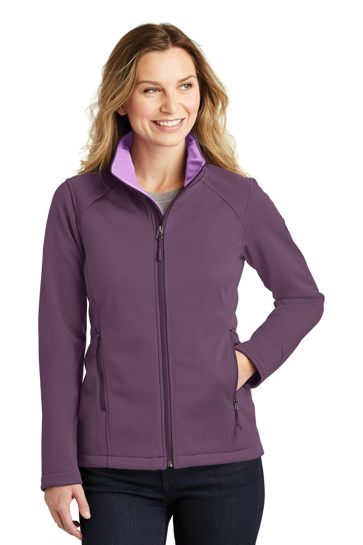 The North Face  ®  Ladies Ridgewall Soft Shell Jacket. NF0A3LGY - TNF Blackberry Wine