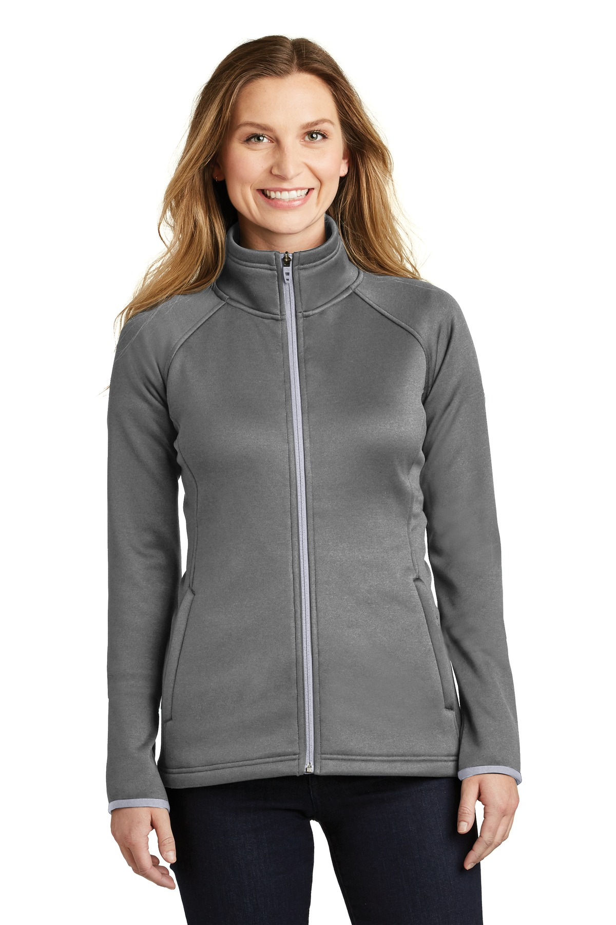 The North Face  ®  Ladies Canyon Flats Stretch Fleece Jacket. NF0A3LHA - TNF Medium Grey Heather