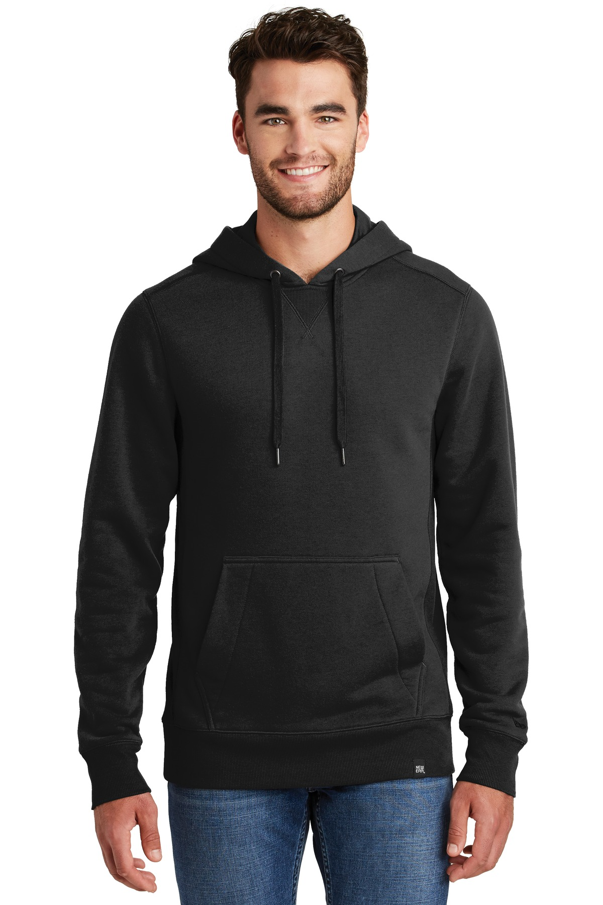 New Era  ®  French Terry Pullover Hoodie. NEA500 - Black