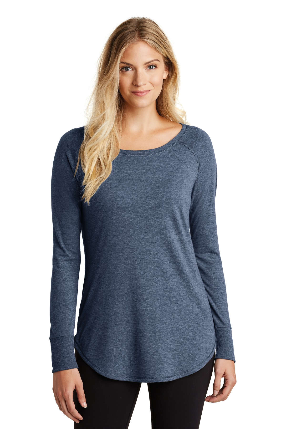 District  ®  Women's Perfect Tri  ®  Long Sleeve Tunic Tee. DT132L - Navy Frost
