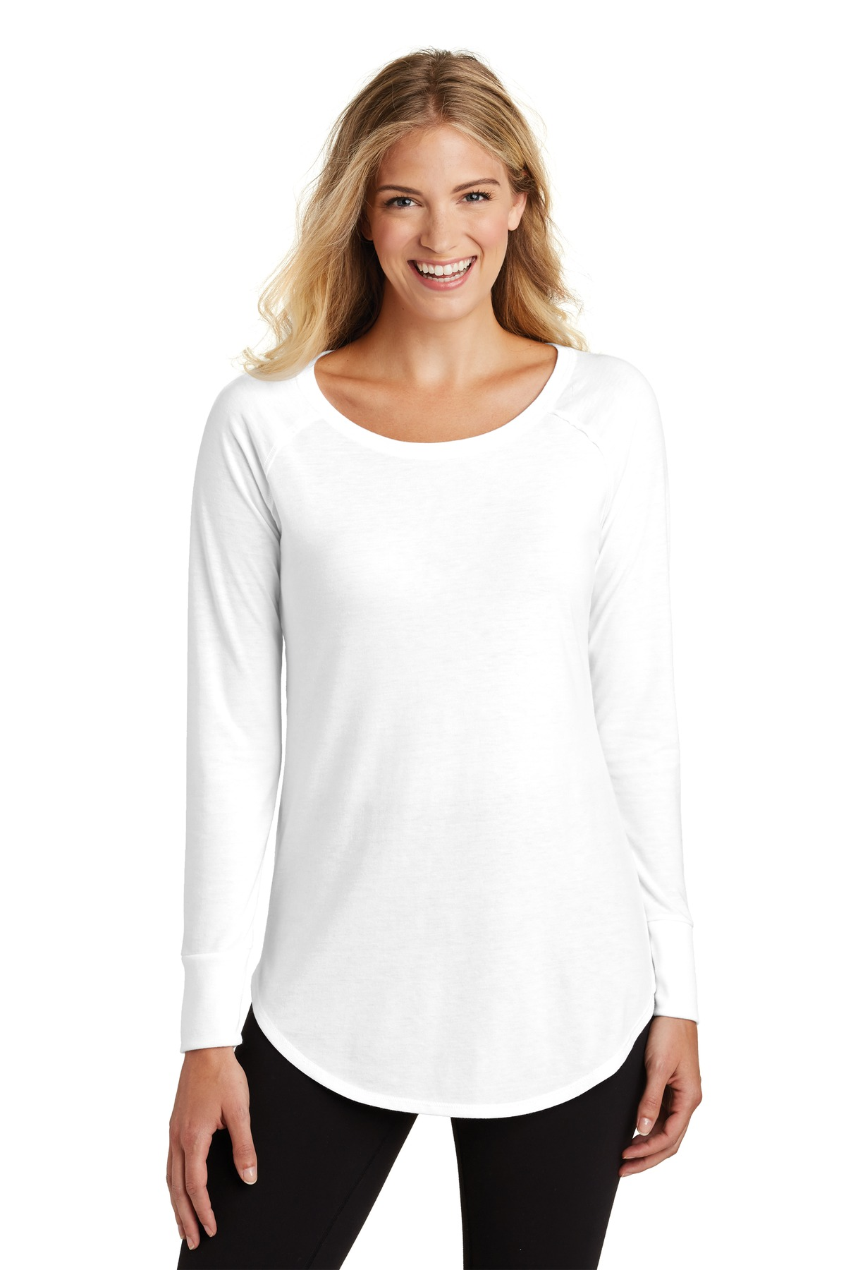 District  ®  Women's Perfect Tri  ®  Long Sleeve Tunic Tee. DT132L - White
