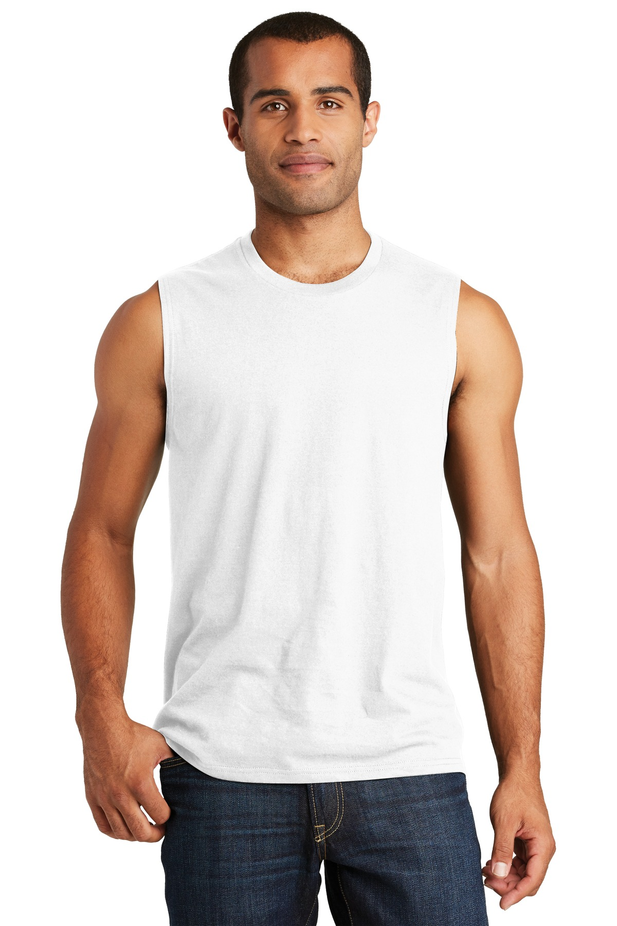 District  ®  V.I.T.   ™  Muscle Tank. DT6300 - White