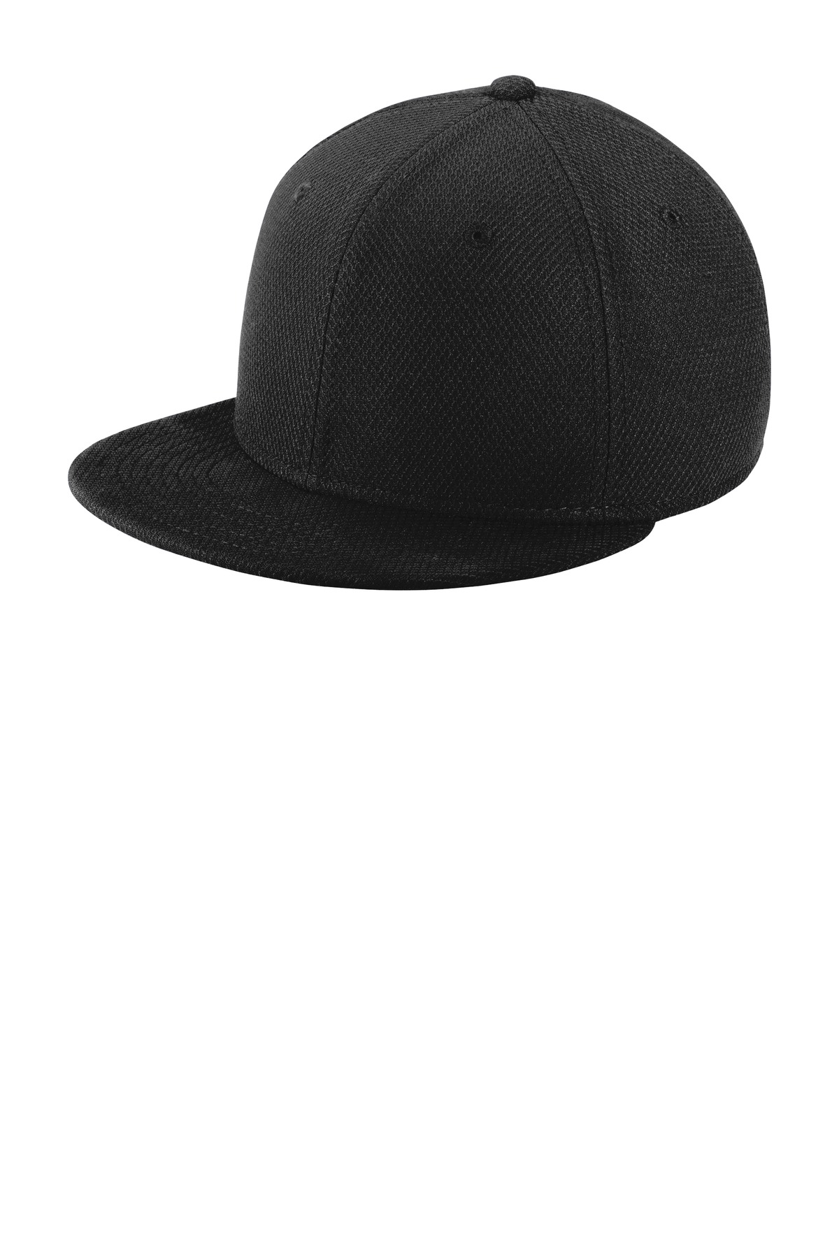 New Era  ®  Youth Original Fit Diamond Era Flat Bill Snapback Cap. NE304 - Black