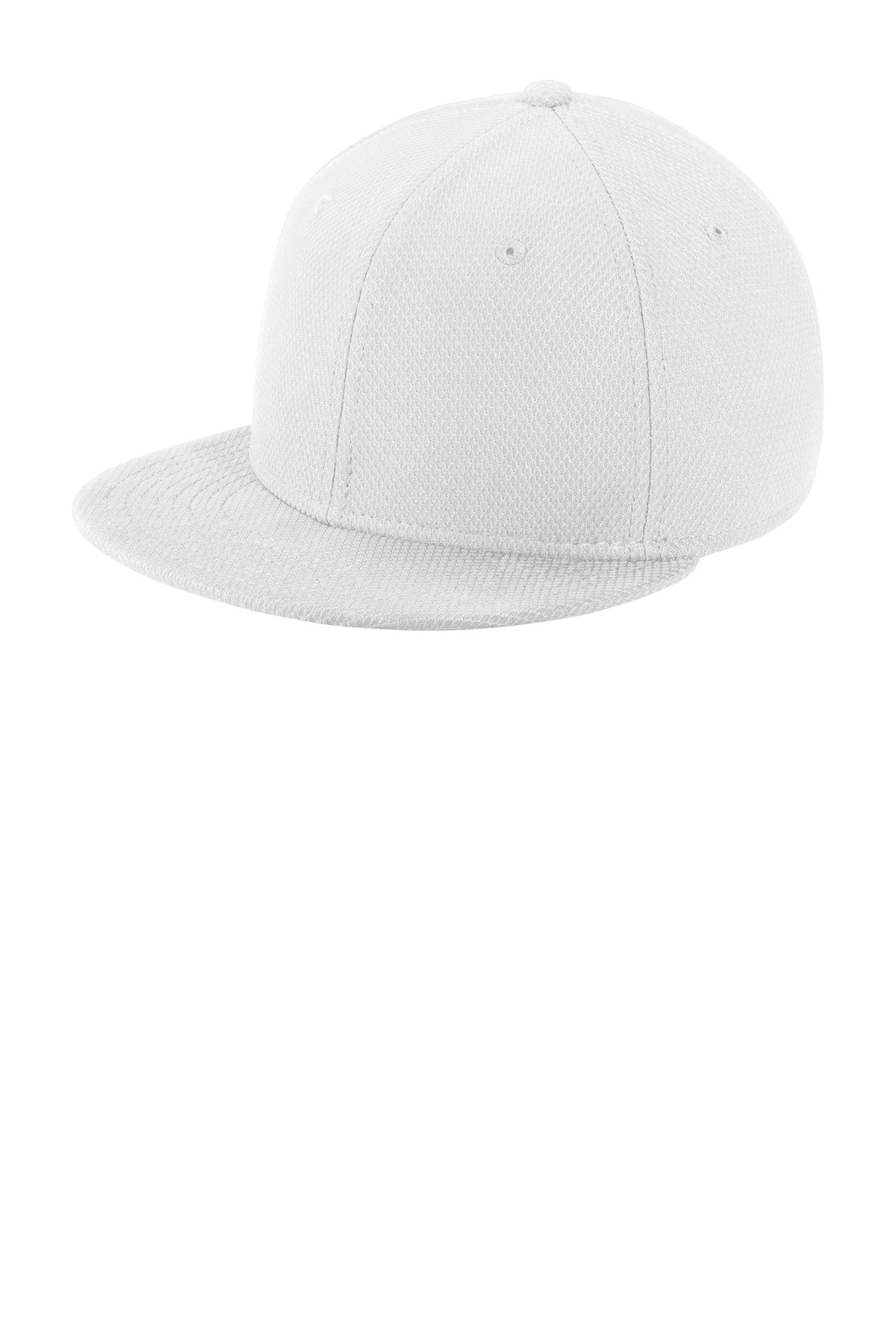 New Era  ®  Youth Original Fit Diamond Era Flat Bill Snapback Cap. NE304 - White