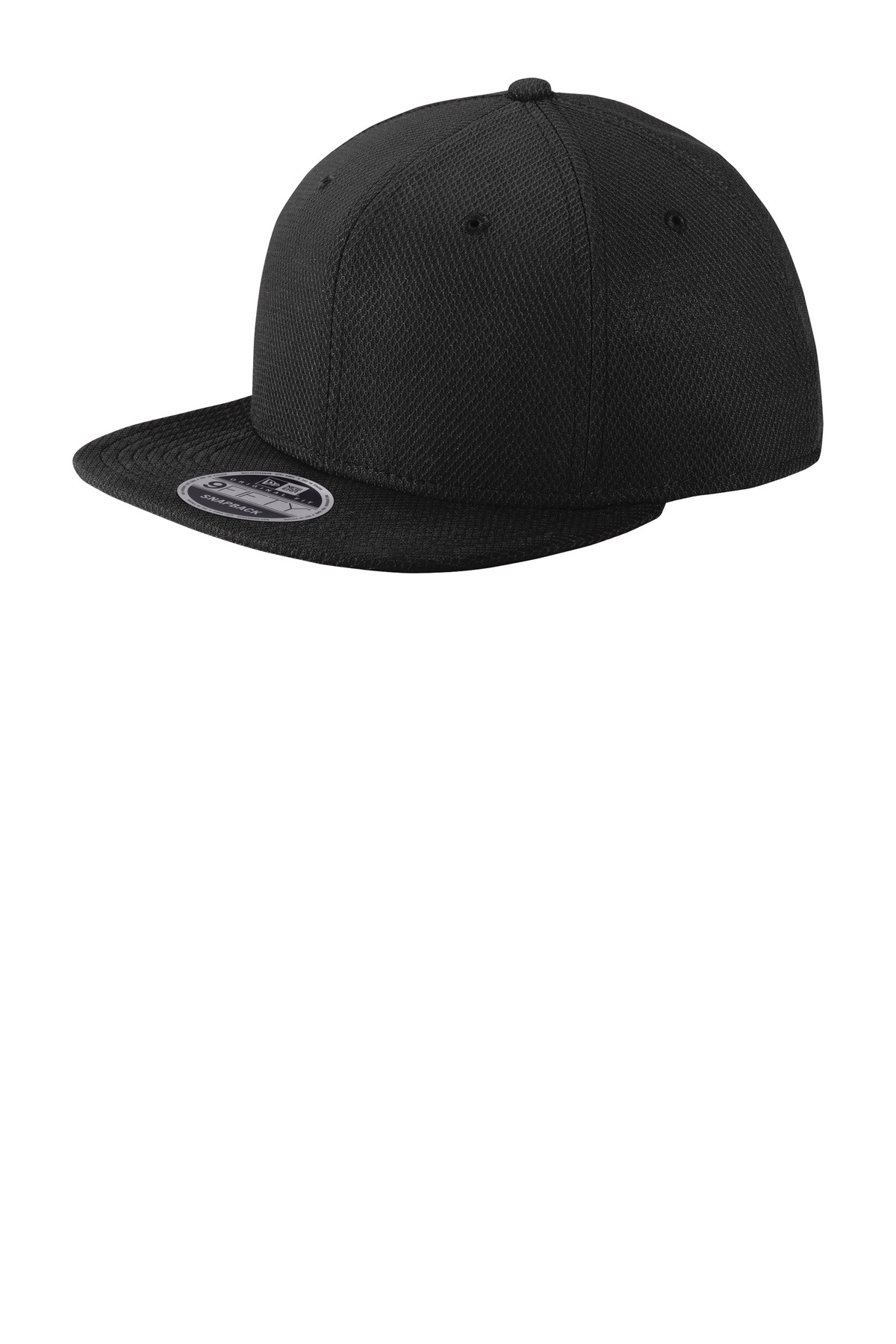 New Era  ®  Original Fit Diamond Era Flat Bill Snapback Cap. NE404 - Black