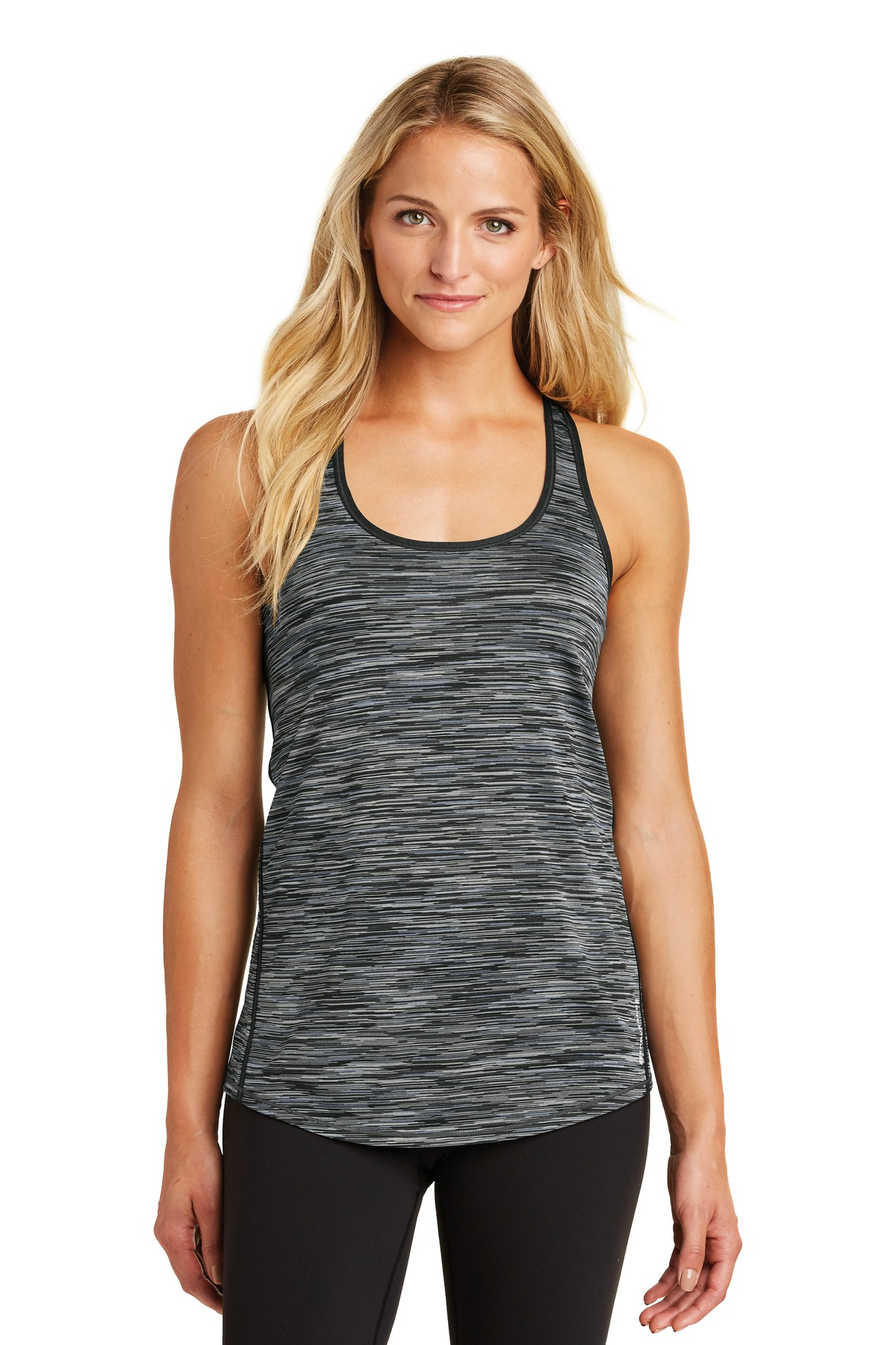 OGIO  ®  ENDURANCE Ladies Verge Racerback Tank. LOE327 - Blacktop Space Dye