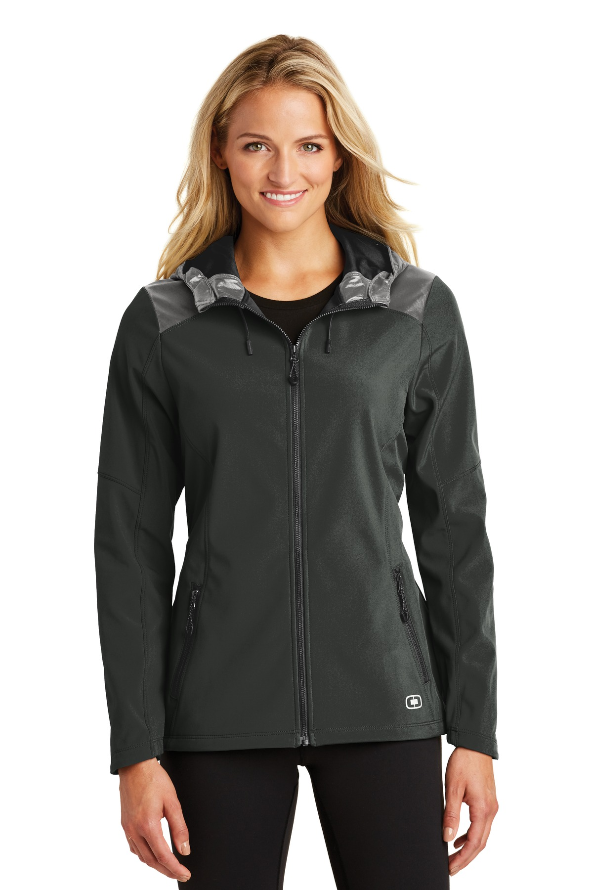 OGIO ®  ENDURANCE Ladies Liquid Jacket. LOE723 - Blacktop