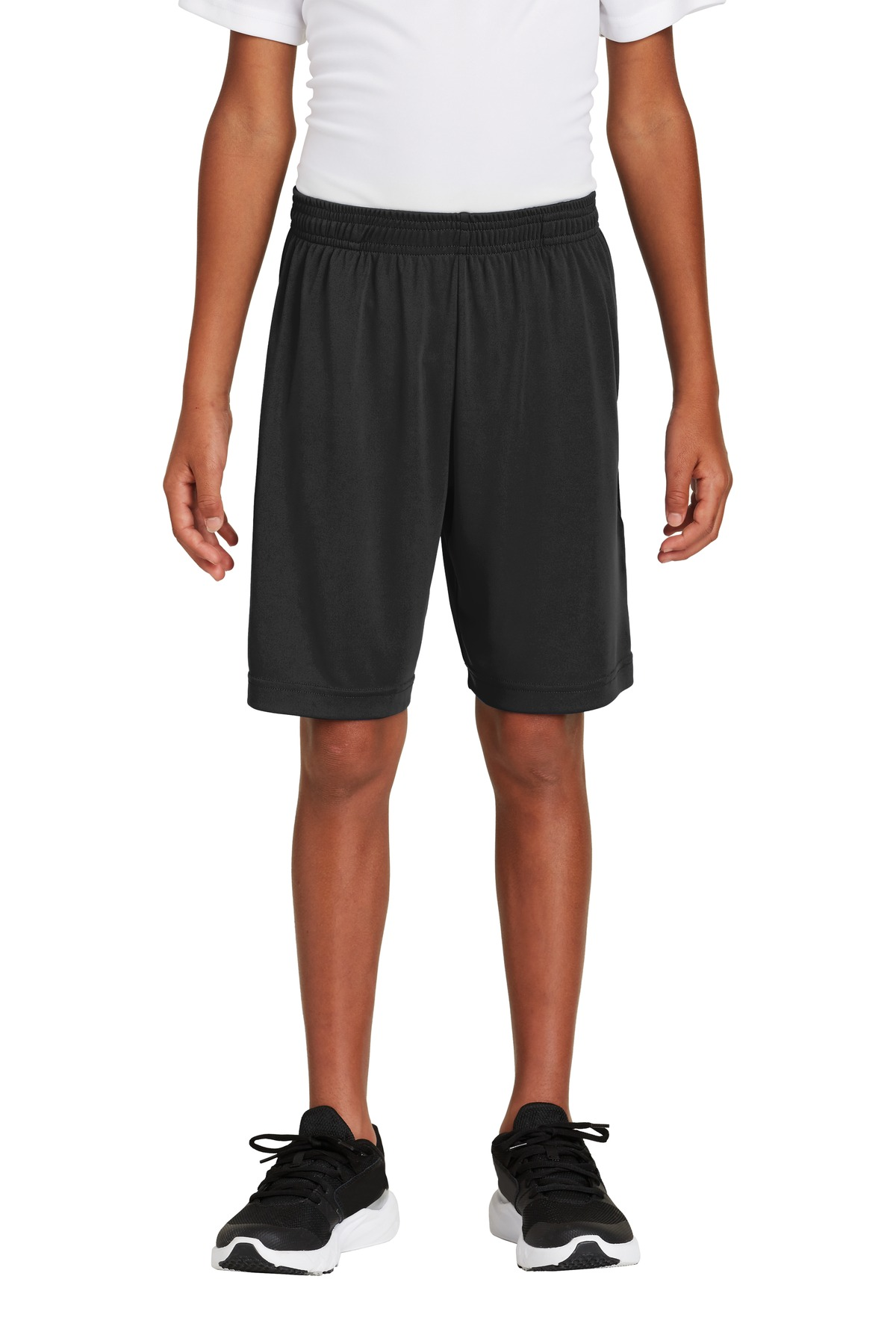 Sport-Tek  ®  Youth PosiCharge  ®  Competitor  ™  Pocketed Short. YST355P - Black