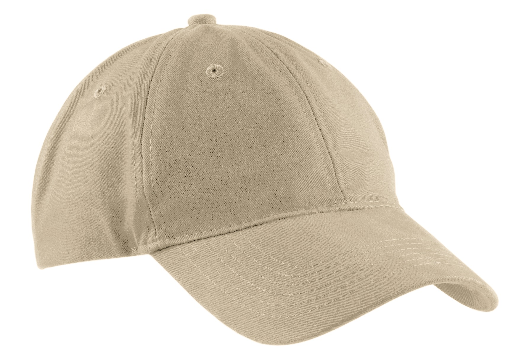 Port & Company ®  Brushed Twill Low Profile Cap.  CP77 - Khaki