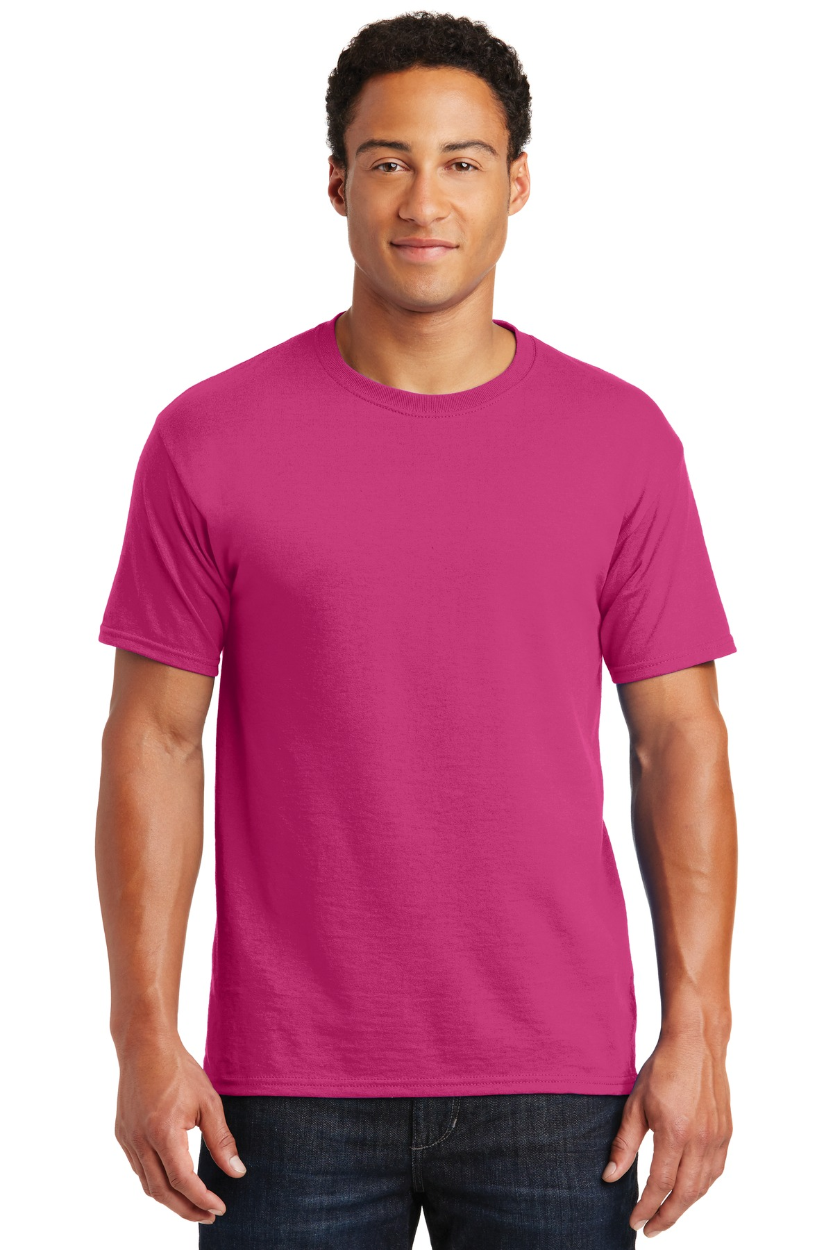 JERZEES ®  -  Dri-Power ®  Active 50/50 Cotton/Poly T-Shirt.  29M - Cyber Pink