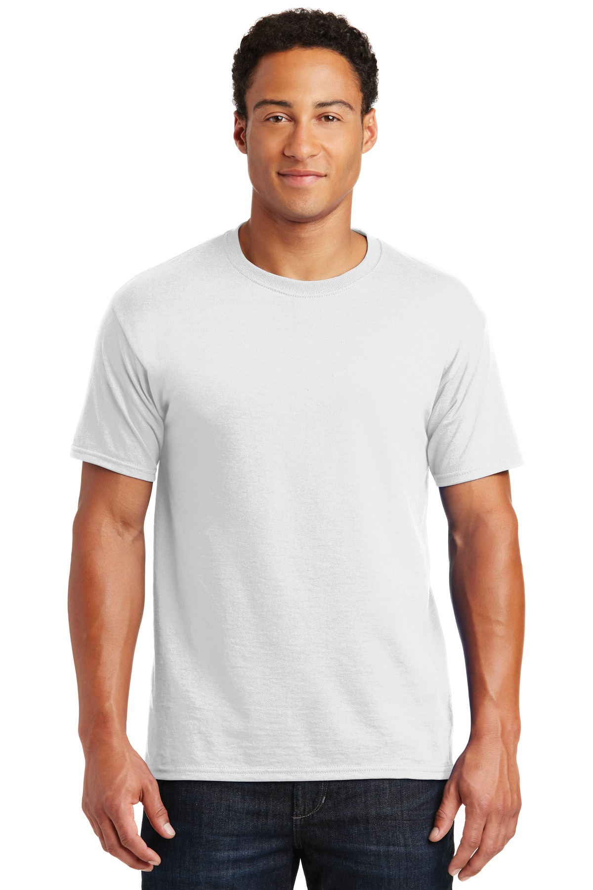 JERZEES ®  -  Dri-Power ®  50/50 Cotton/Poly T-Shirt.  29M - White