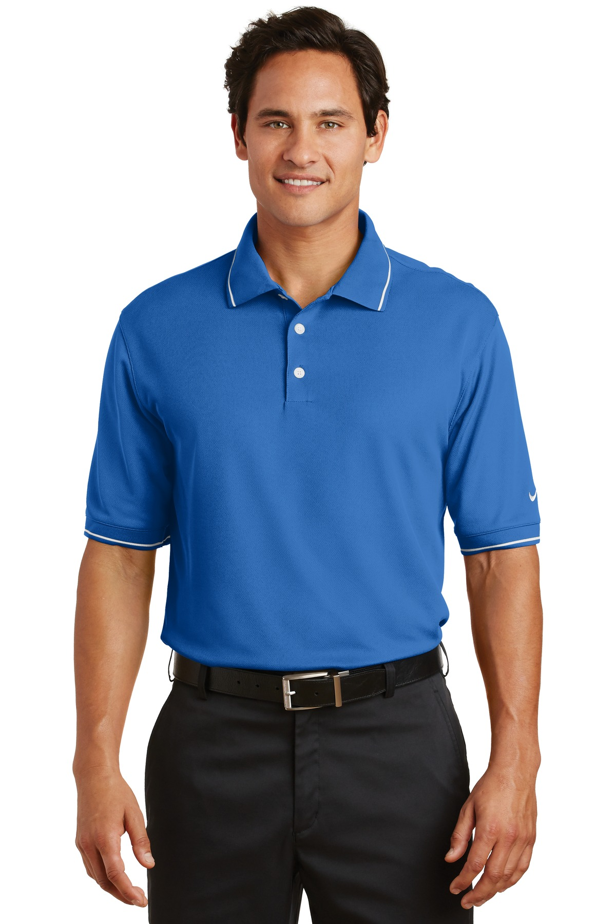 Nike Dri-FIT Classic Tipped Polo.  319966 - Pacific Blue