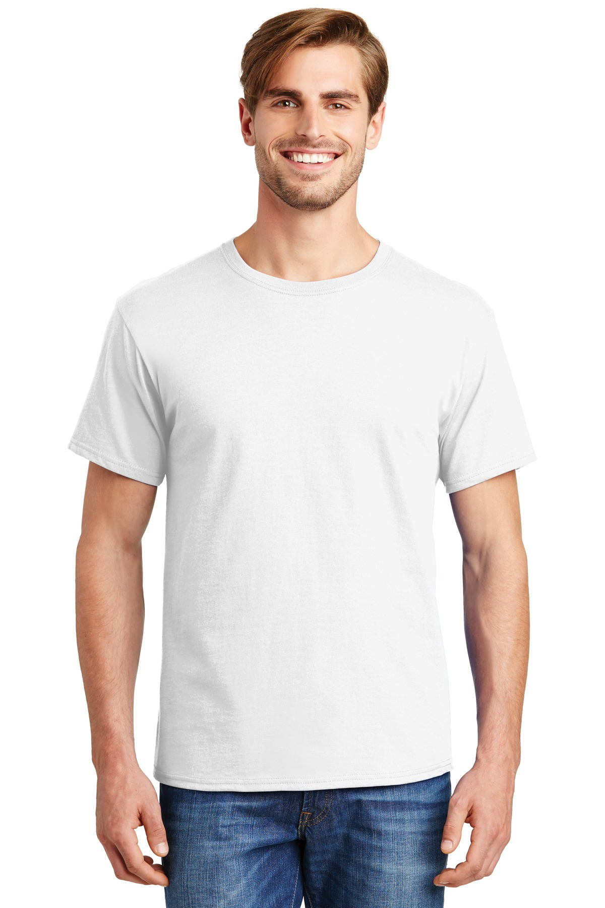 Hanes ®  - ComfortSoft ®  100%  Cotton T-Shirt.  5280 - White
