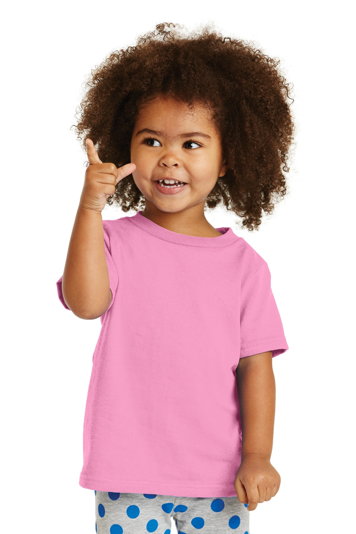 Port & Company ®  Toddler Core Cotton Tee. CAR54T - Candy Pink