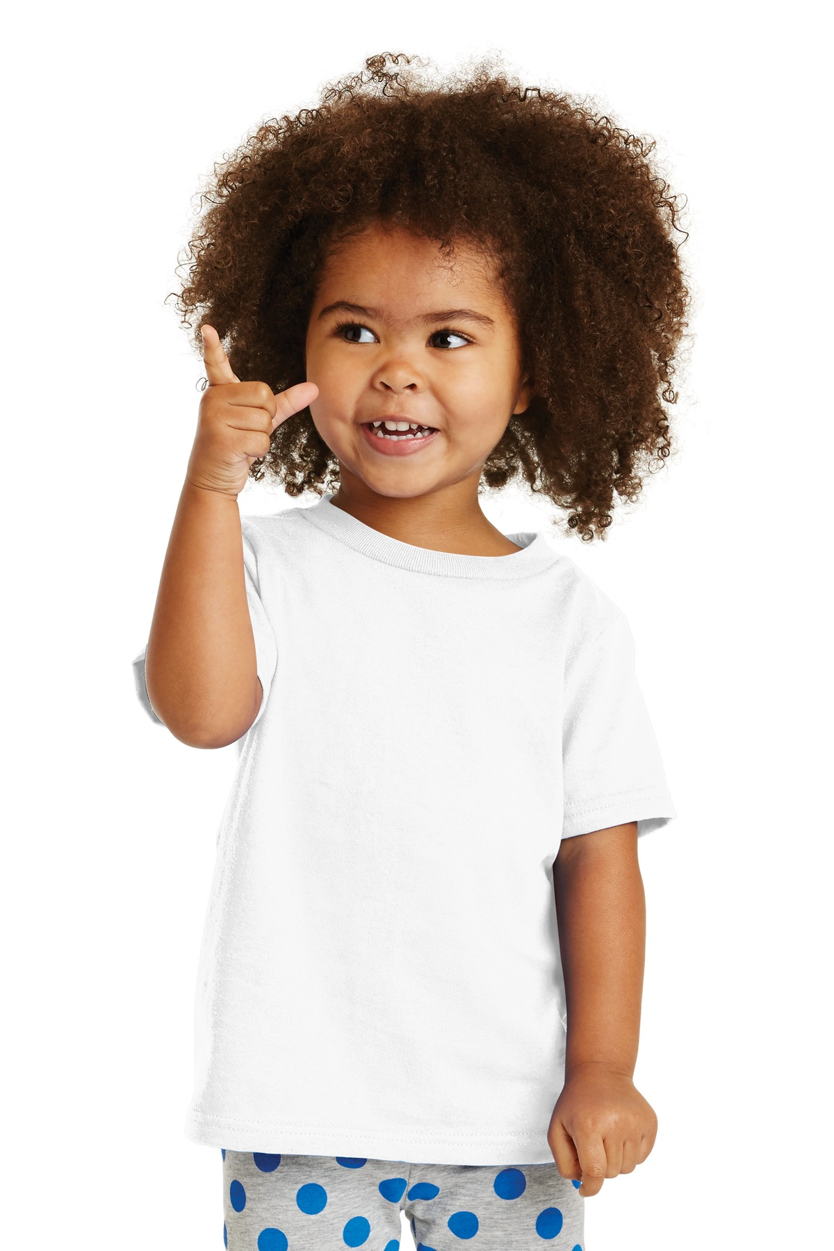 Port & Company ®  Toddler Core Cotton Tee. CAR54T - White