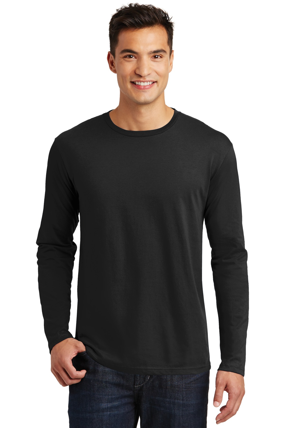 District  ®  Perfect Weight ®  Long Sleeve Tee. DT105 - Jet Black