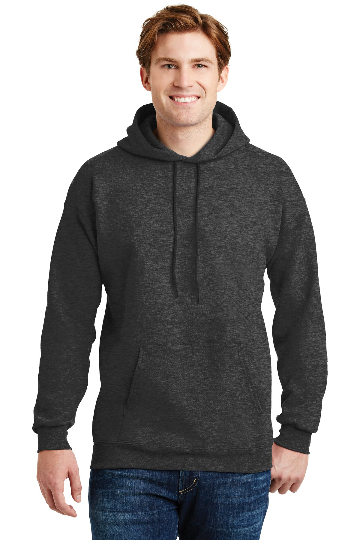 Hanes ®  Ultimate Cotton ®  - Pullover Hooded Sweatshirt.  F170 - Charcoal Heather