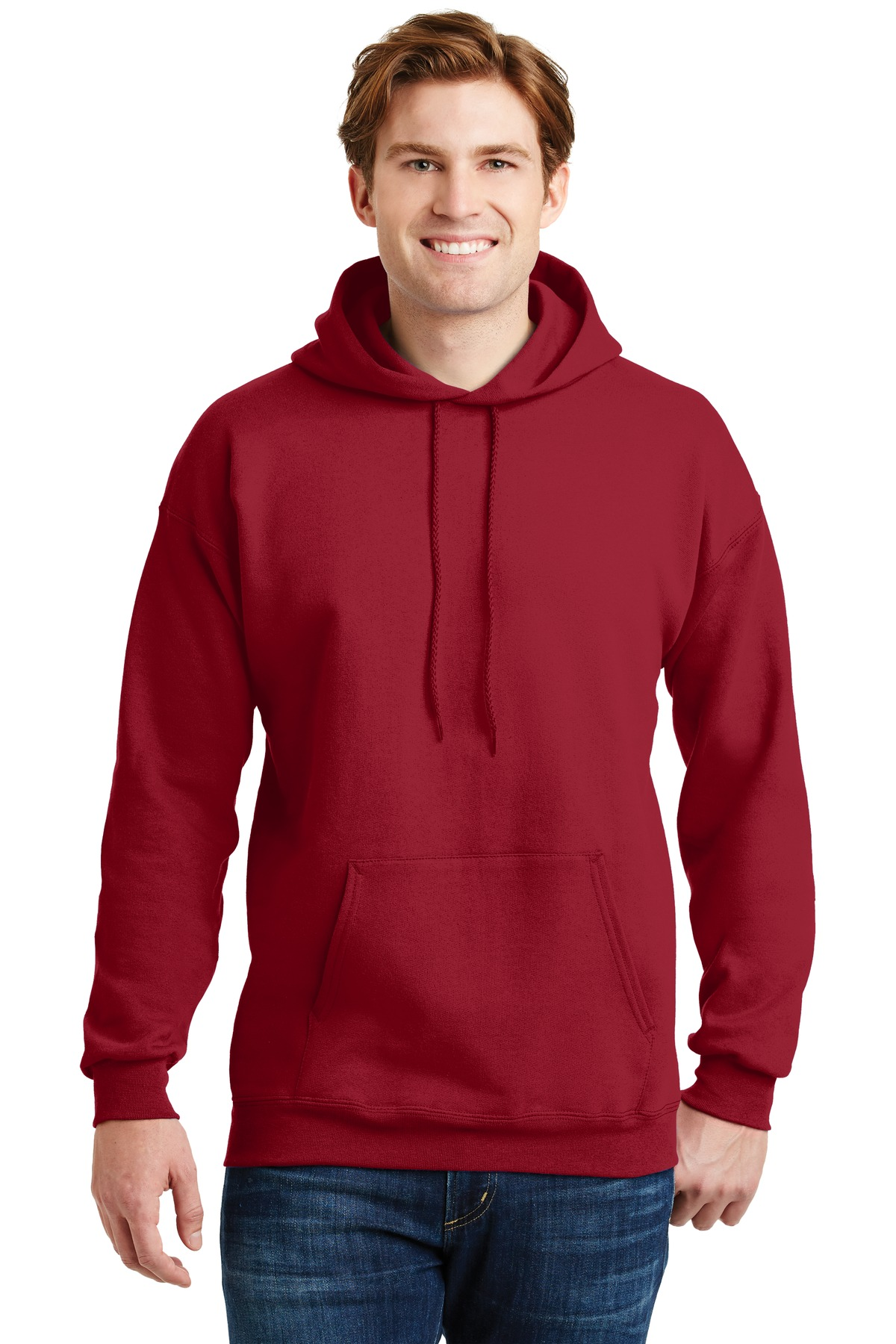 Hanes ®  Ultimate Cotton ®  - Pullover Hooded Sweatshirt.  F170 - Deep Red