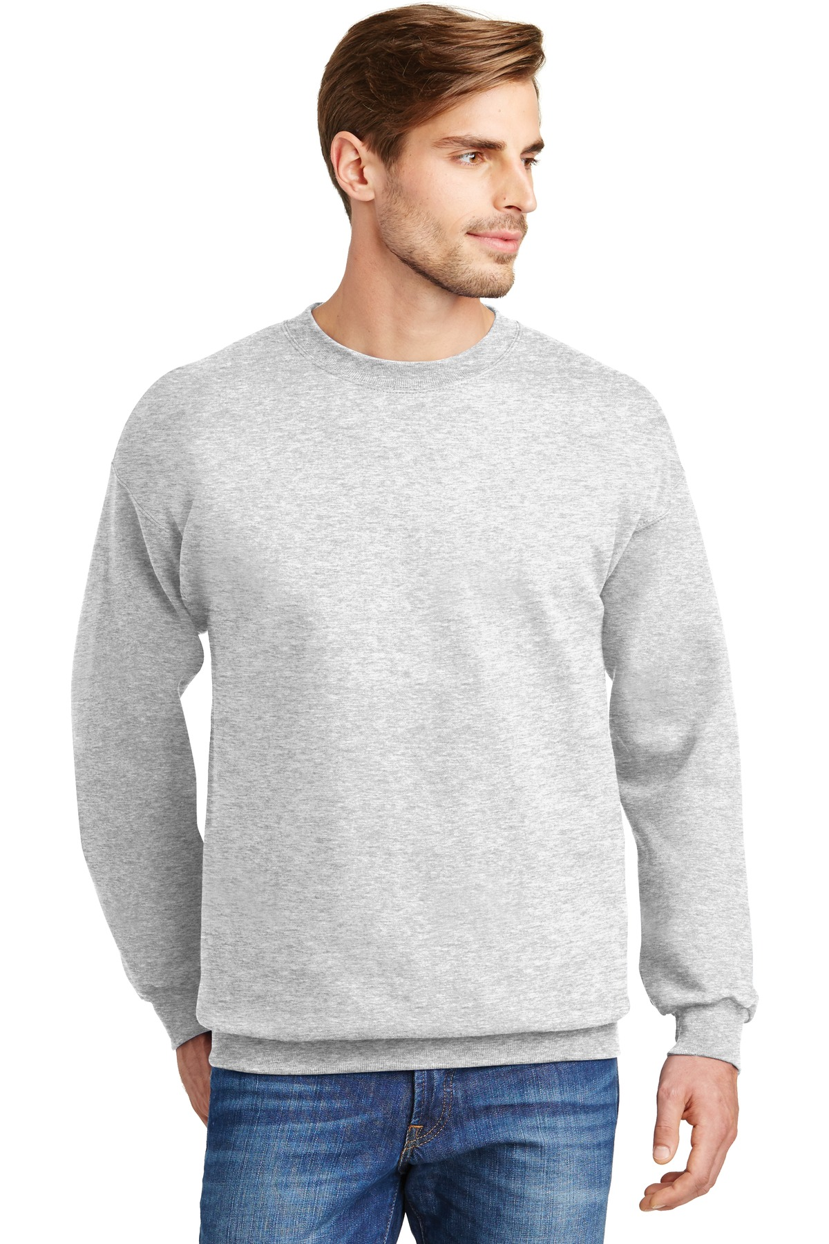Hanes ®  Ultimate Cotton ®  - Crewneck Sweatshirt.  F260 - Ash