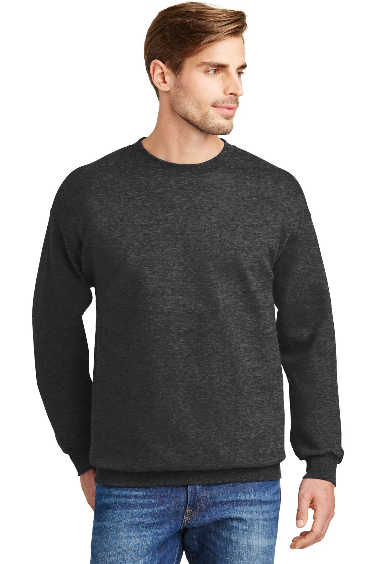 Hanes ®  Ultimate Cotton ®  - Crewneck Sweatshirt.  F260 - Charcoal Heather**