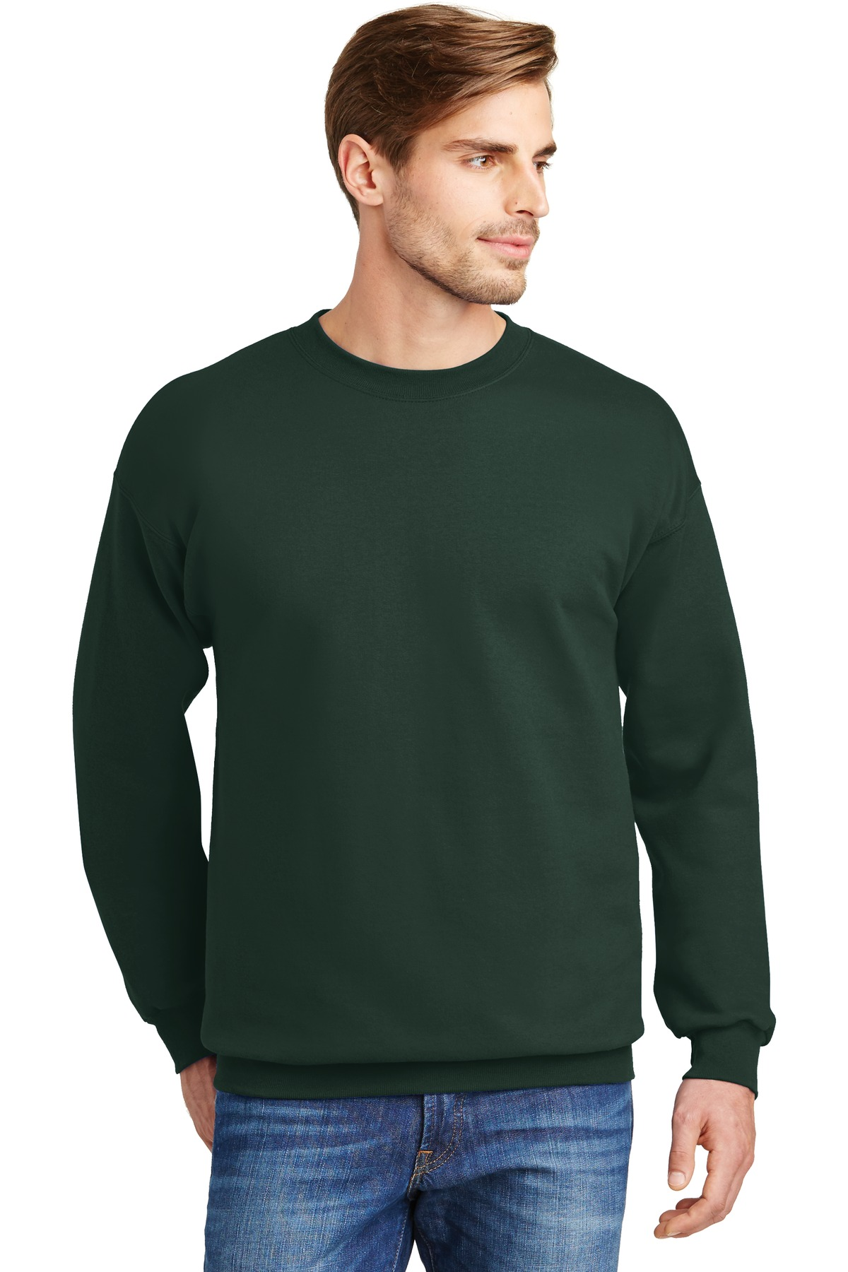 Hanes ®  Ultimate Cotton ®  - Crewneck Sweatshirt.  F260 - Deep Forest