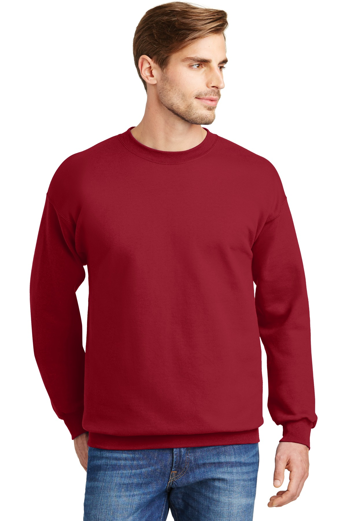 Hanes ®  Ultimate Cotton ®  - Crewneck Sweatshirt.  F260 - Deep Red