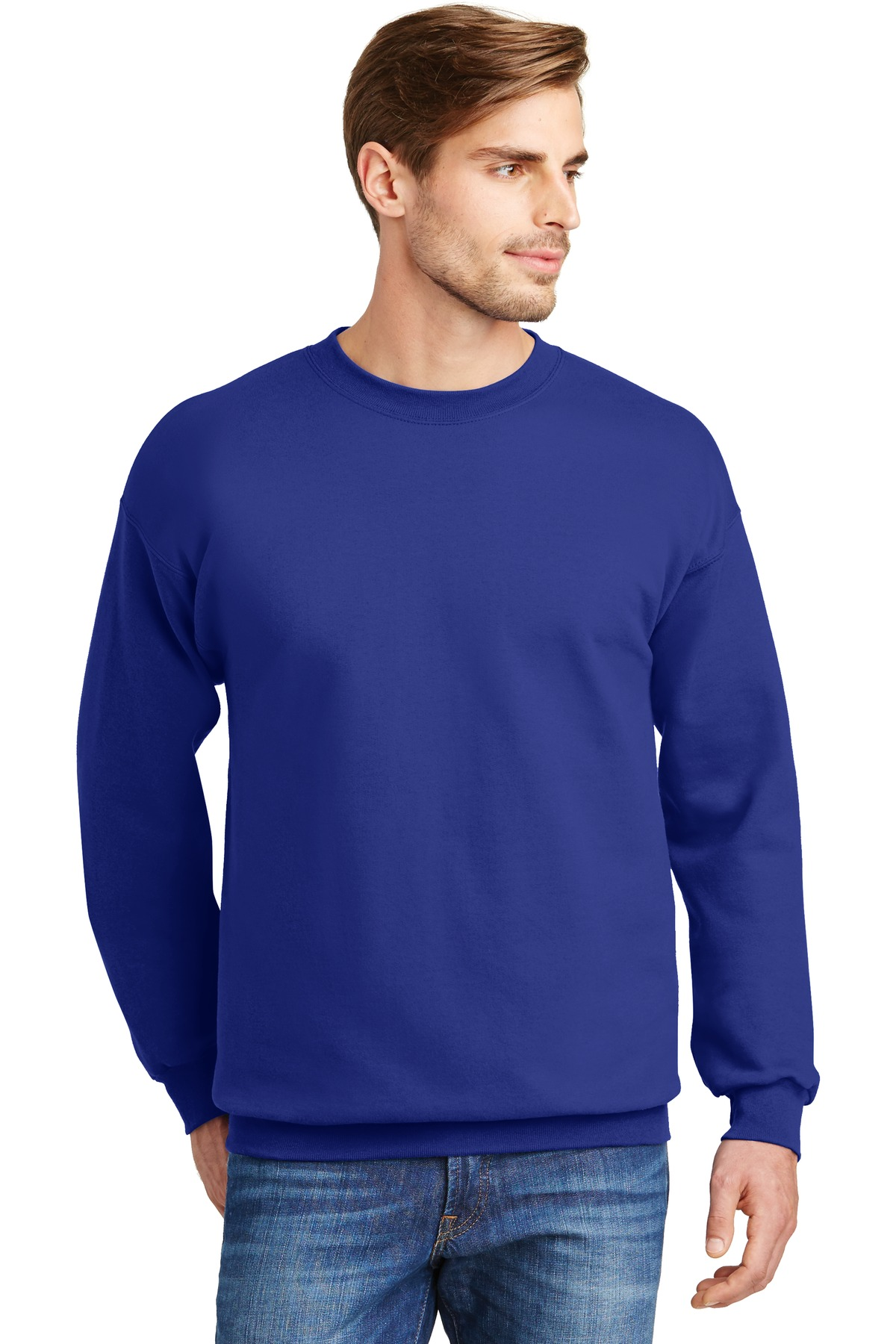 Hanes ®  Ultimate Cotton ®  - Crewneck Sweatshirt.  F260 - Deep Royal