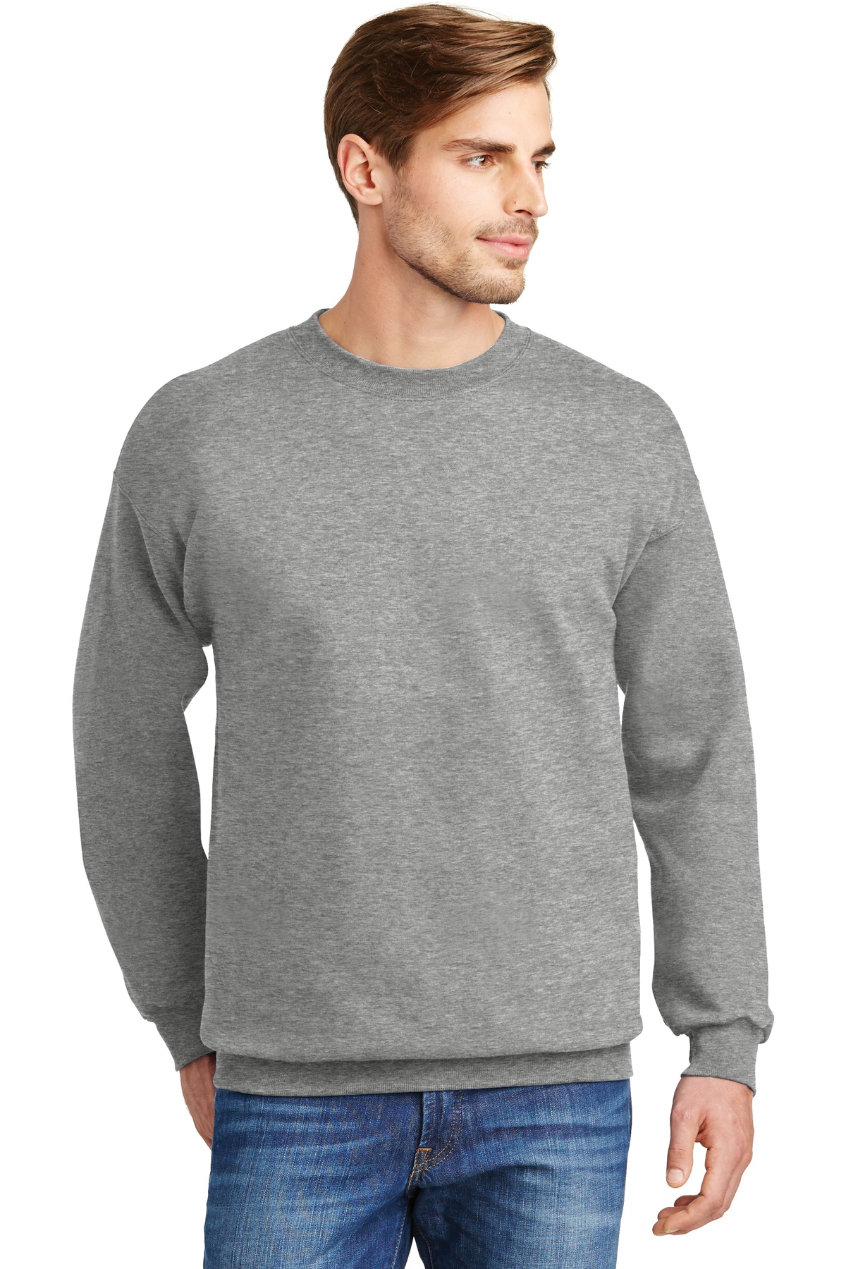 Hanes ®  Ultimate Cotton ®  - Crewneck Sweatshirt.  F260 - Light Steel*