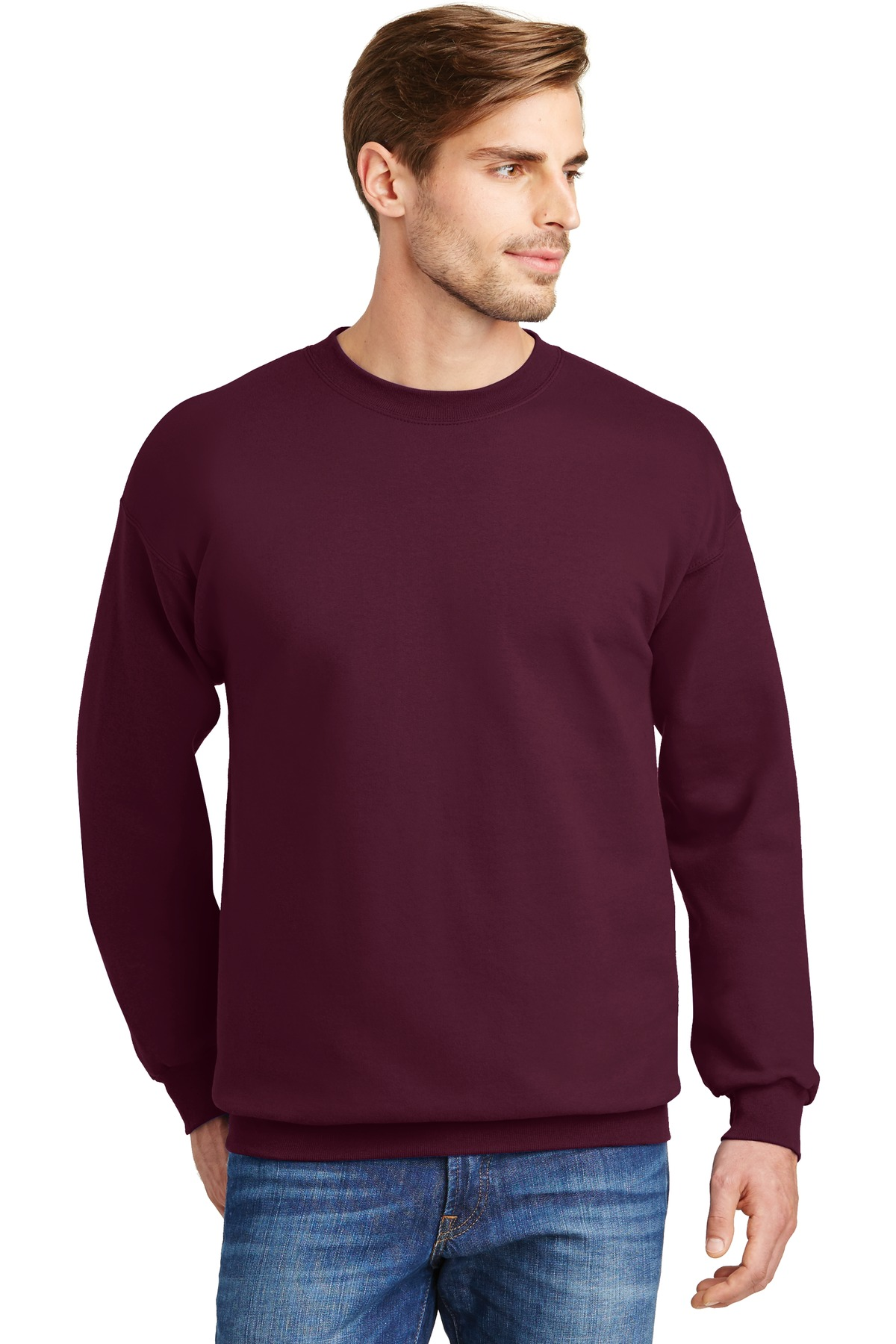 Hanes ®  Ultimate Cotton ®  - Crewneck Sweatshirt.  F260 - Maroon