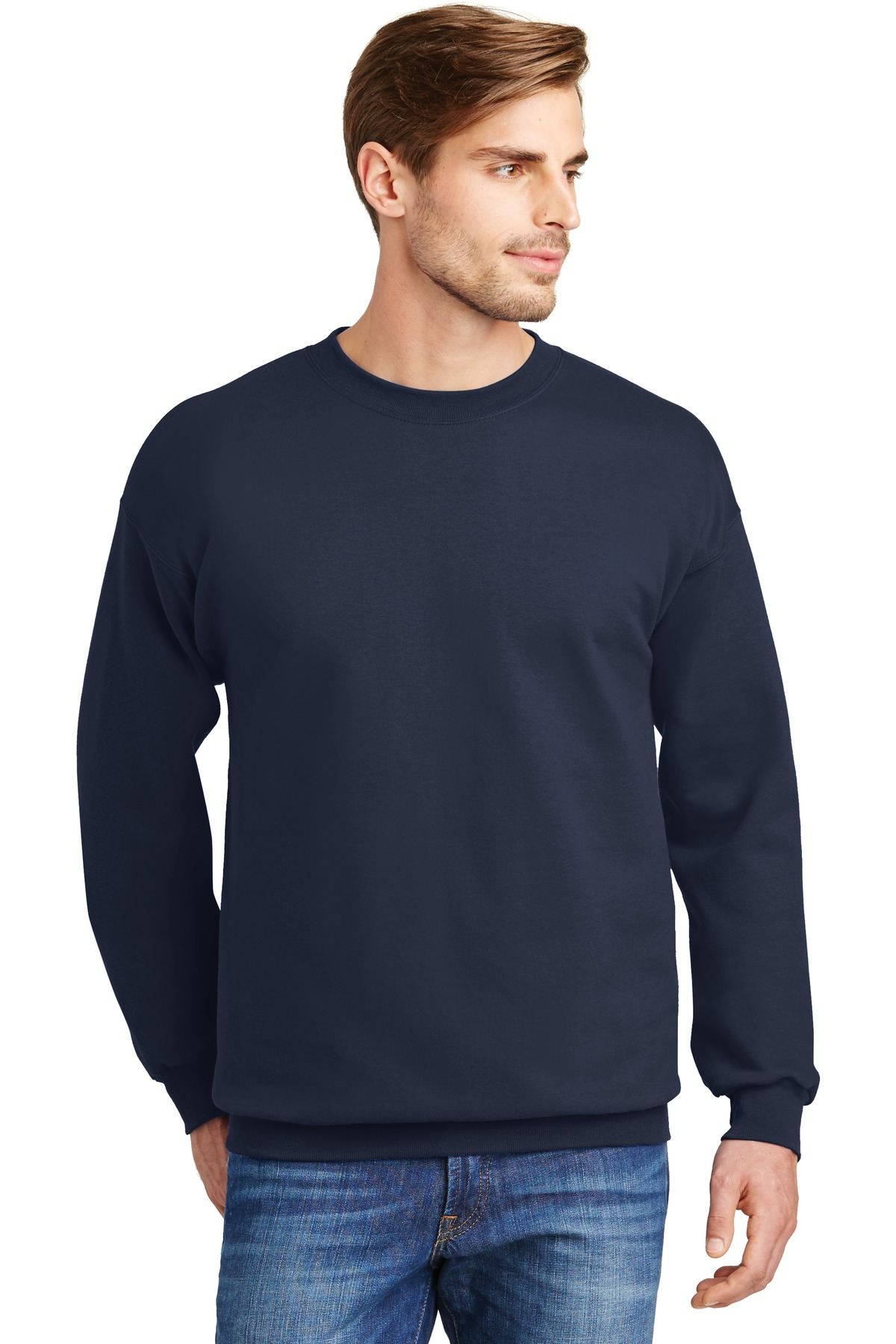 Hanes ®  Ultimate Cotton ®  - Crewneck Sweatshirt.  F260 - Navy