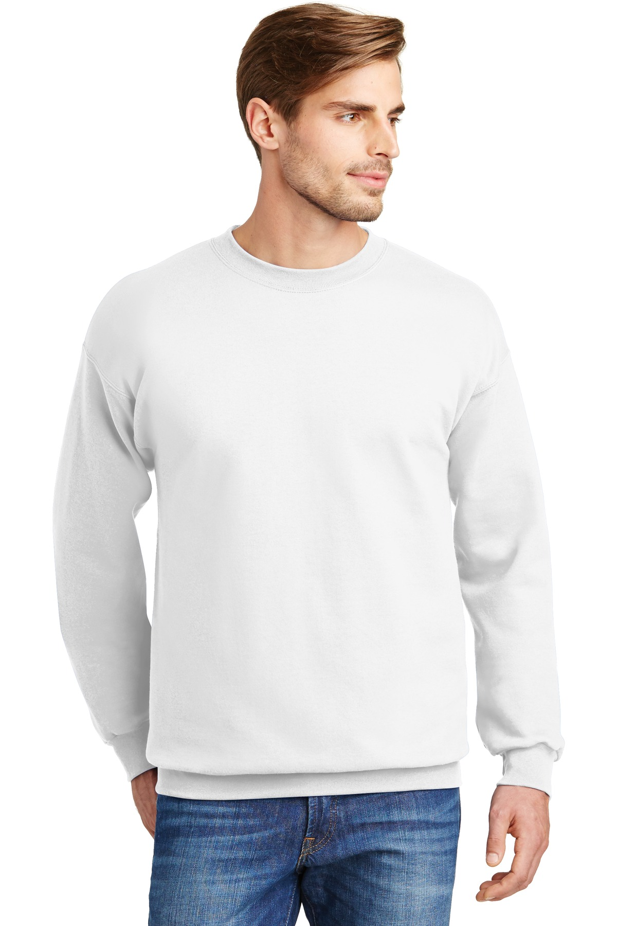 Hanes ®  Ultimate Cotton ®  - Crewneck Sweatshirt.  F260 - White