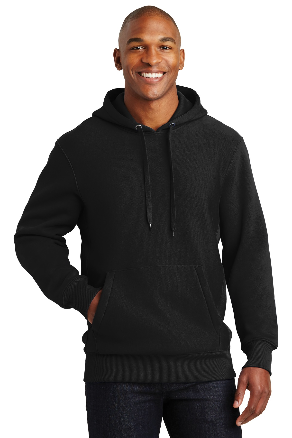 Sport-Tek ®  Super Heavyweight Pullover Hooded Sweatshirt.  F281 - Black