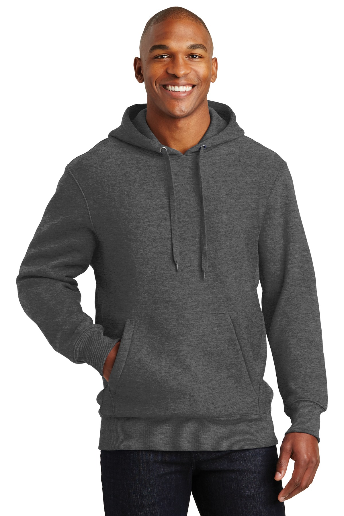 Sport-Tek ®  Super Heavyweight Pullover Hooded Sweatshirt.  F281 - Graphite Heather