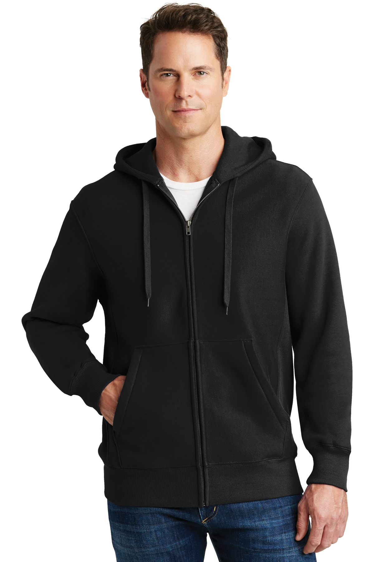 Sport-Tek ®  Super Heavyweight Full-Zip Hooded Sweatshirt.  F282 - Black