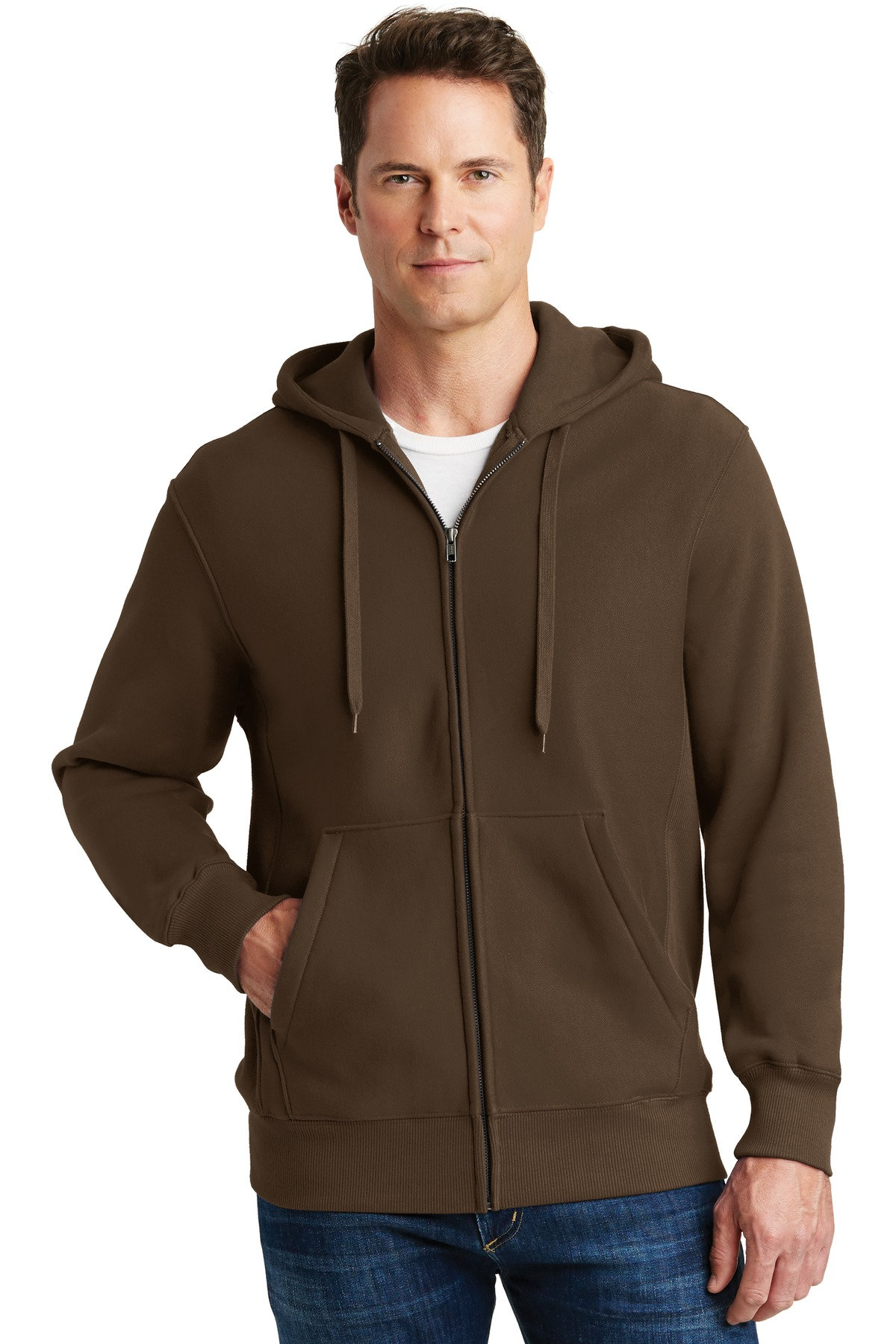 Sport-Tek ®  Super Heavyweight Full-Zip Hooded Sweatshirt.  F282 - Brown