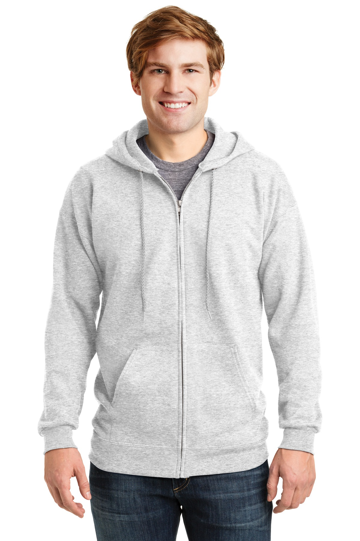 Hanes ®  Ultimate Cotton ®  - Full-Zip Hooded Sweatshirt.  F283 - Ash