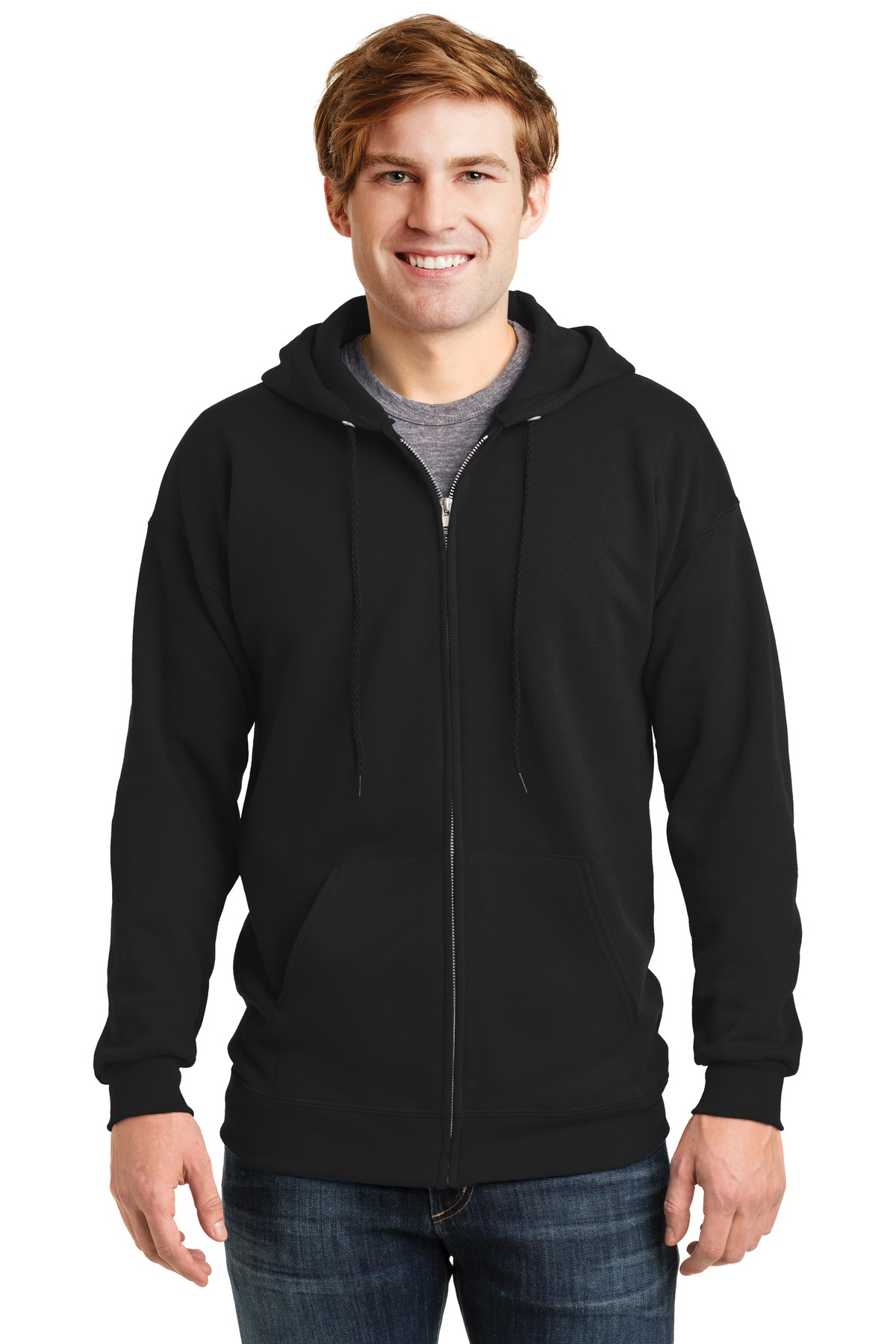 Hanes ®  Ultimate Cotton ®  - Full-Zip Hooded Sweatshirt.  F283 - Black