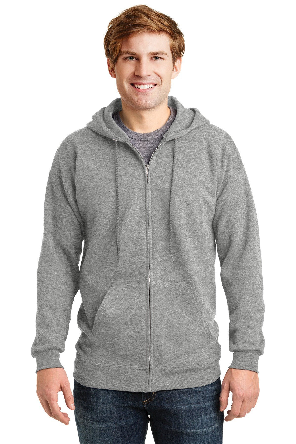 Hanes ®  Ultimate Cotton ®  - Full-Zip Hooded Sweatshirt.  F283 - Light Steel
