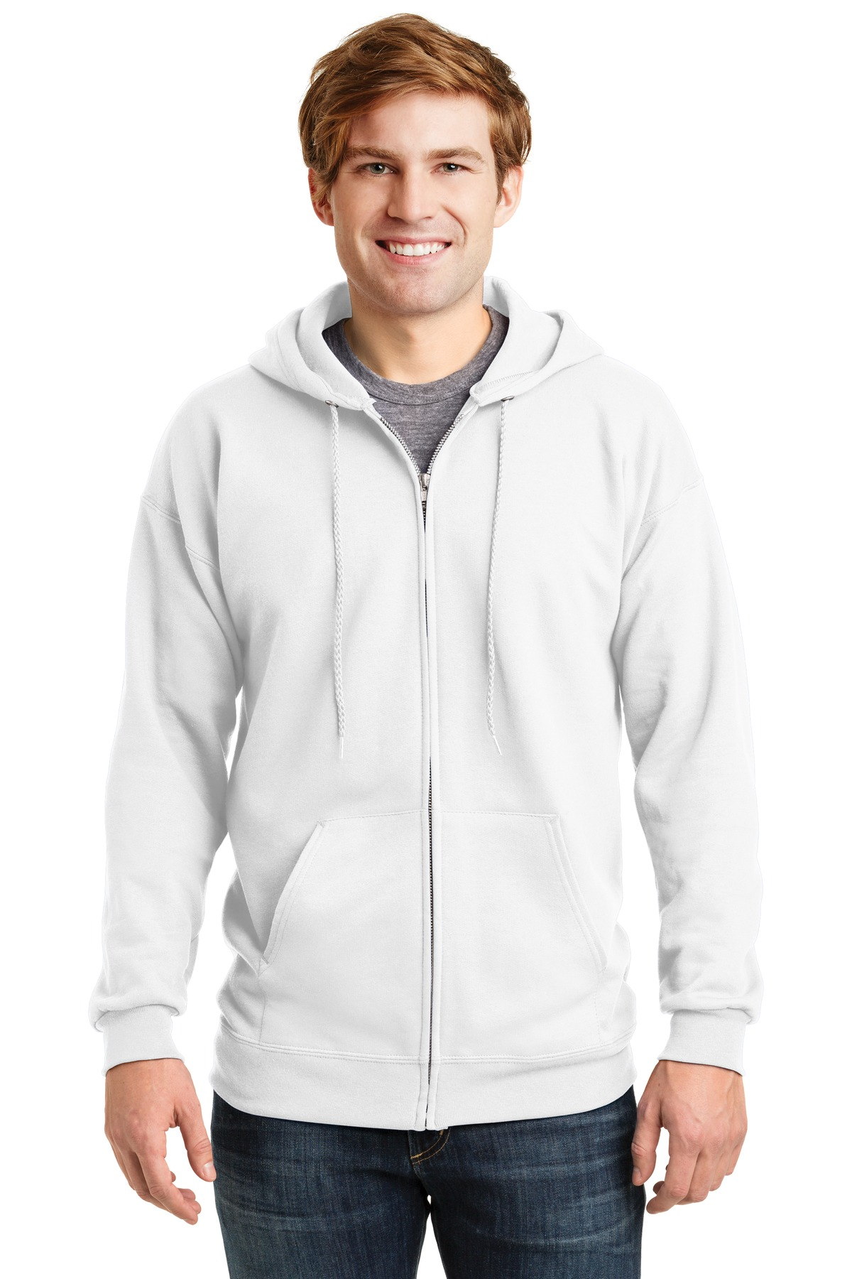 Hanes ®  Ultimate Cotton ®  - Full-Zip Hooded Sweatshirt.  F283 - White