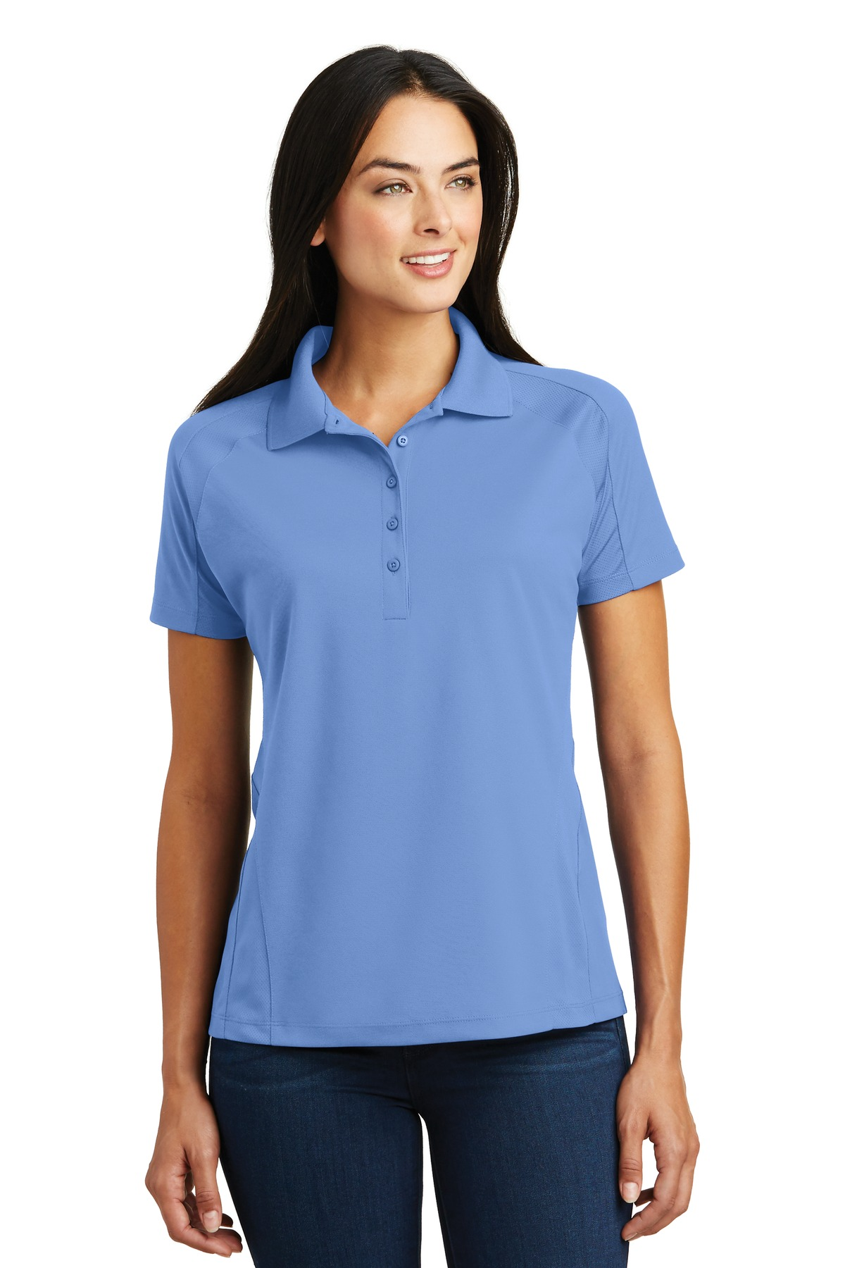 Sport-Tek ®  Ladies Dri-Mesh ®  Pro Polo. L474 - Carolina Blue