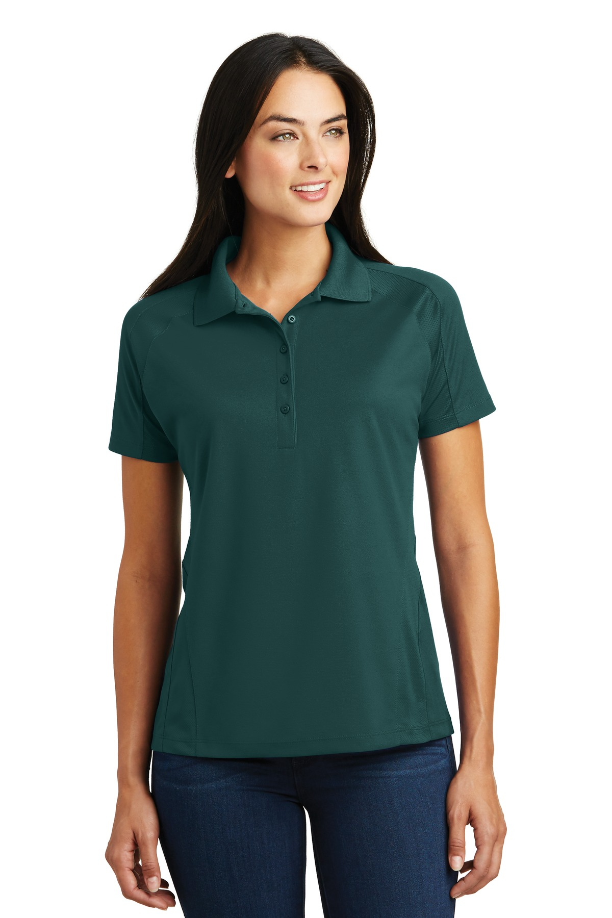 Sport-Tek ®  Ladies Dri-Mesh ®  Pro Polo. L474 - Dark Green